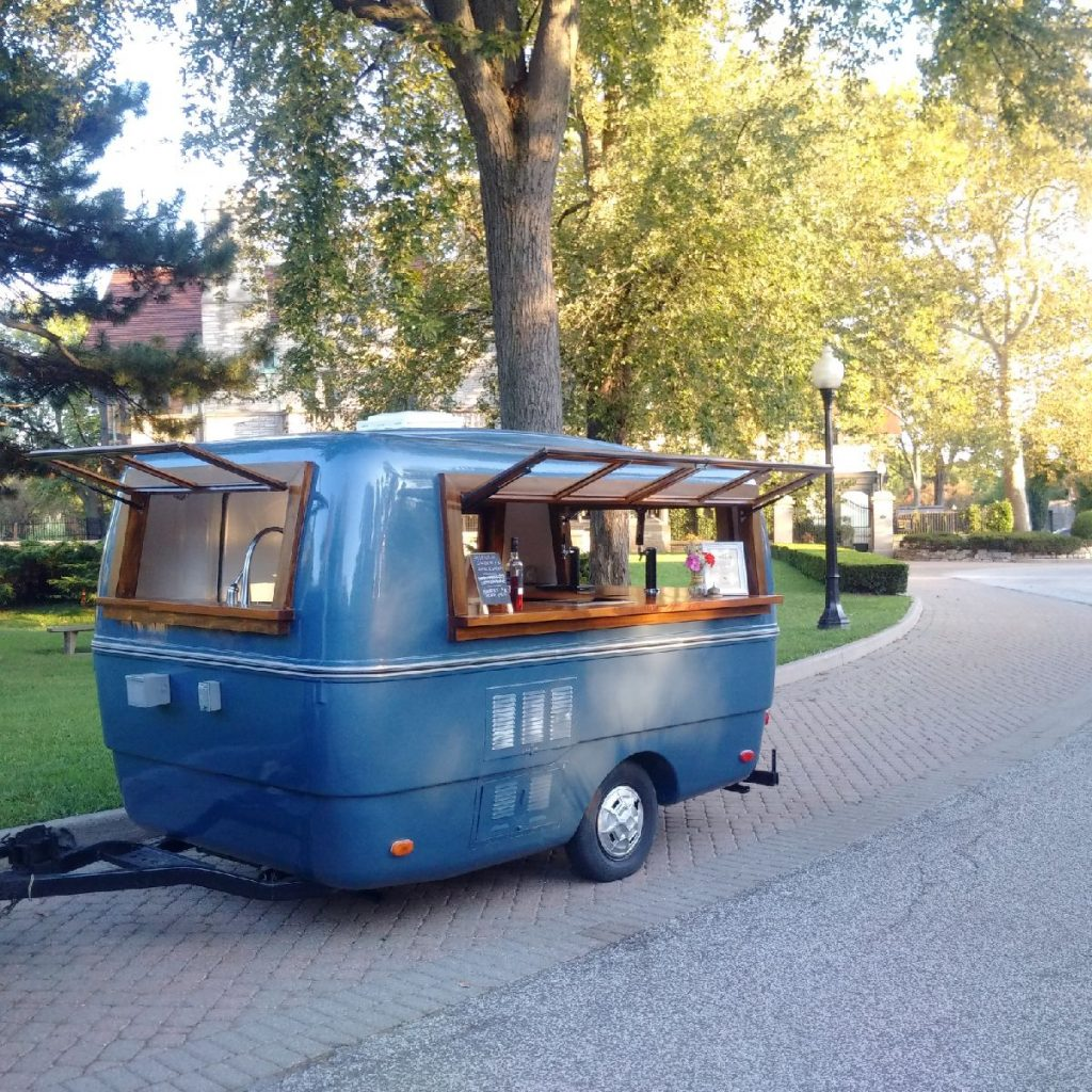 Is is a bird? A plane? No, it's a mobile bar!