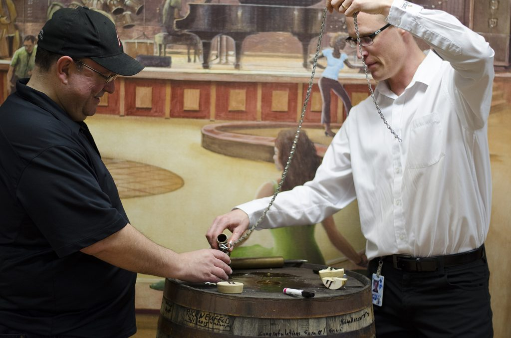 Master Blender, Don Livermore, even let us taste whiskey directly from the barrel!