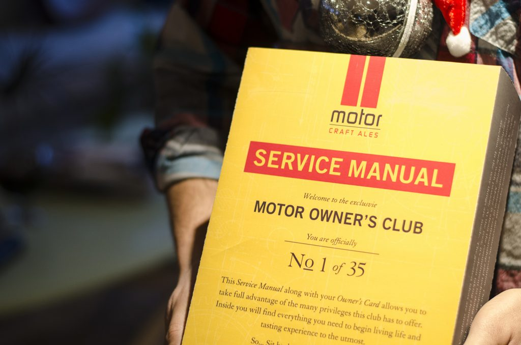 The Motor Owner's Club is an exclusive craft beer club by Motor Craft Ales.