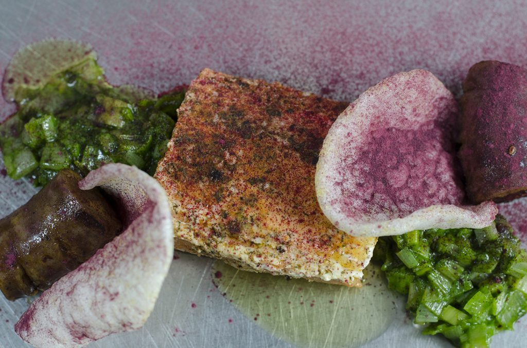 This Cab Sauv and poached salmon recipe are a great, unexpected pair.