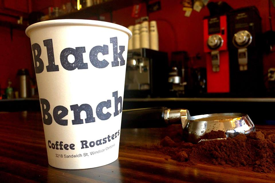Black Bench Coffee Roasters in the Olde Sandwich neighbourhood of Windsor, Ontario