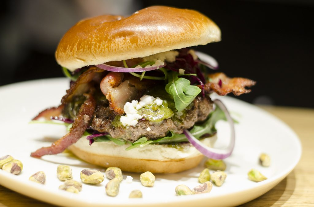 Pistachio Burger from Parkside Grille