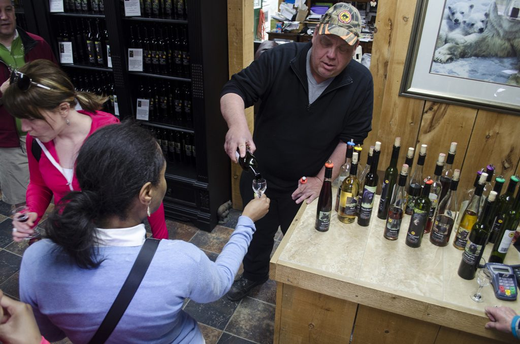 William Rondelez of Black Bear Farms & Estate Winery pours some of his award winning wines