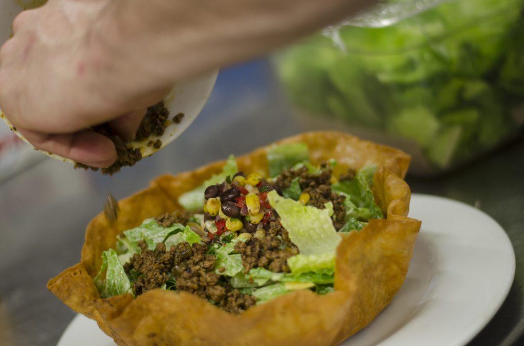Building a taco salad