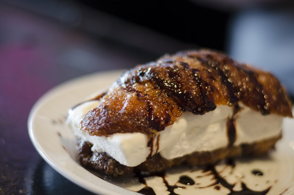 All hail the mighty ice cream stuffed cronut.