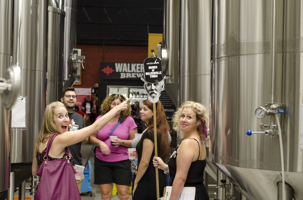 Even good ol' Hiram enjoys coming out on a Drinks of Walkerville tour.