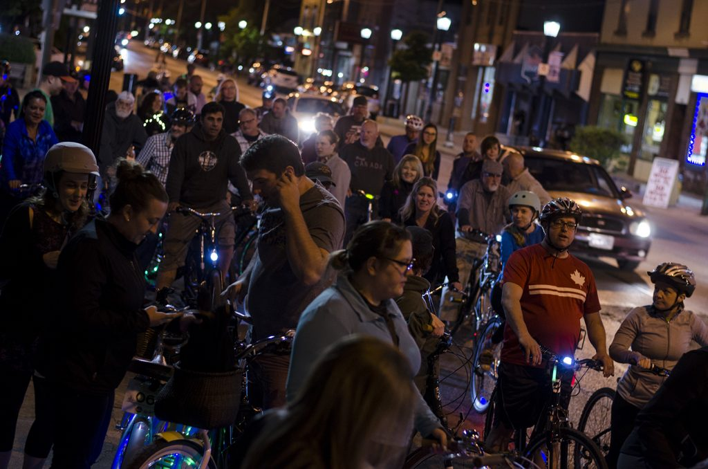 How could you not enjoy a pub crawl with over 100 people on bikes that glow?!