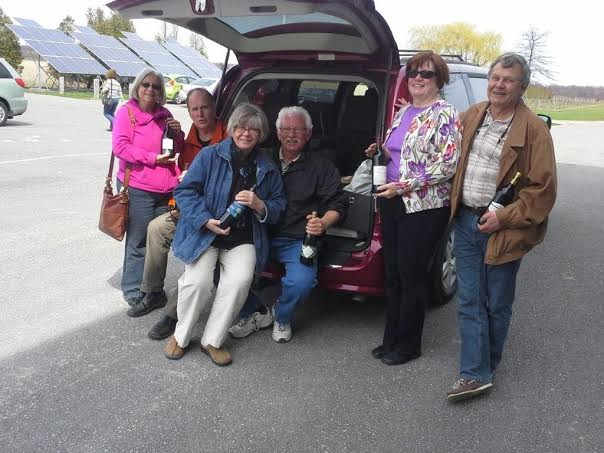 Hop in the Grape Vines van for a tour of the wineries