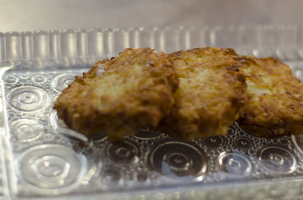 Potato pancakes....err.....latkes!