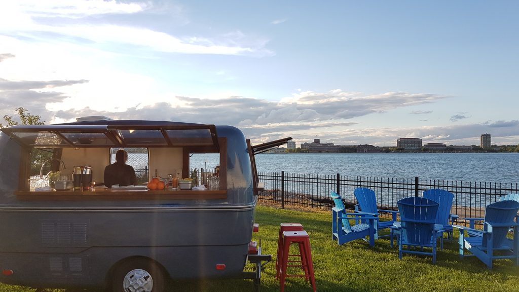 The WindsorEats Traveller is an attraction all on its own....and it's a full service bar, to boot!