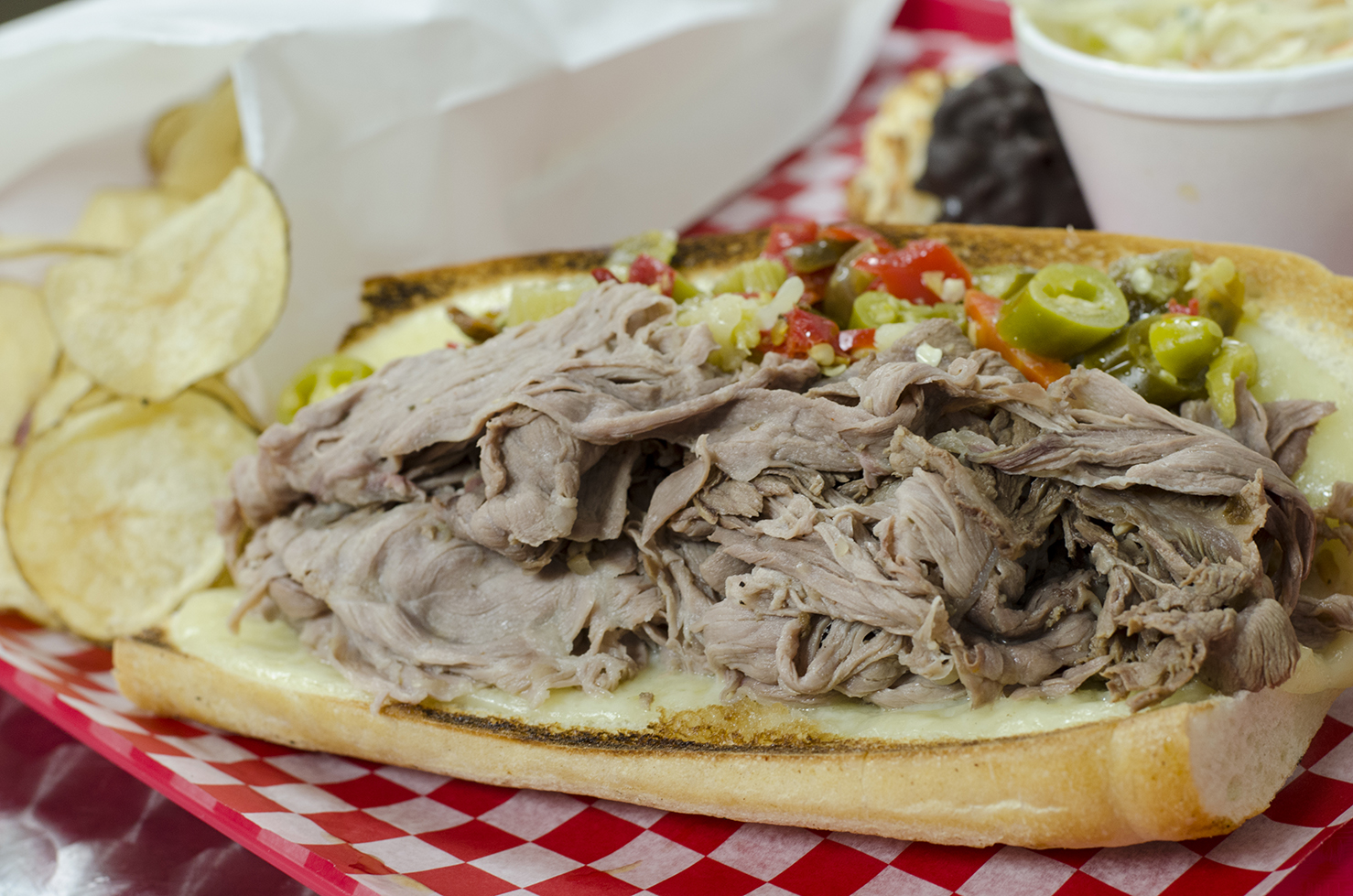 The Chicago-style Italian Beef from Chatham Street Deli.