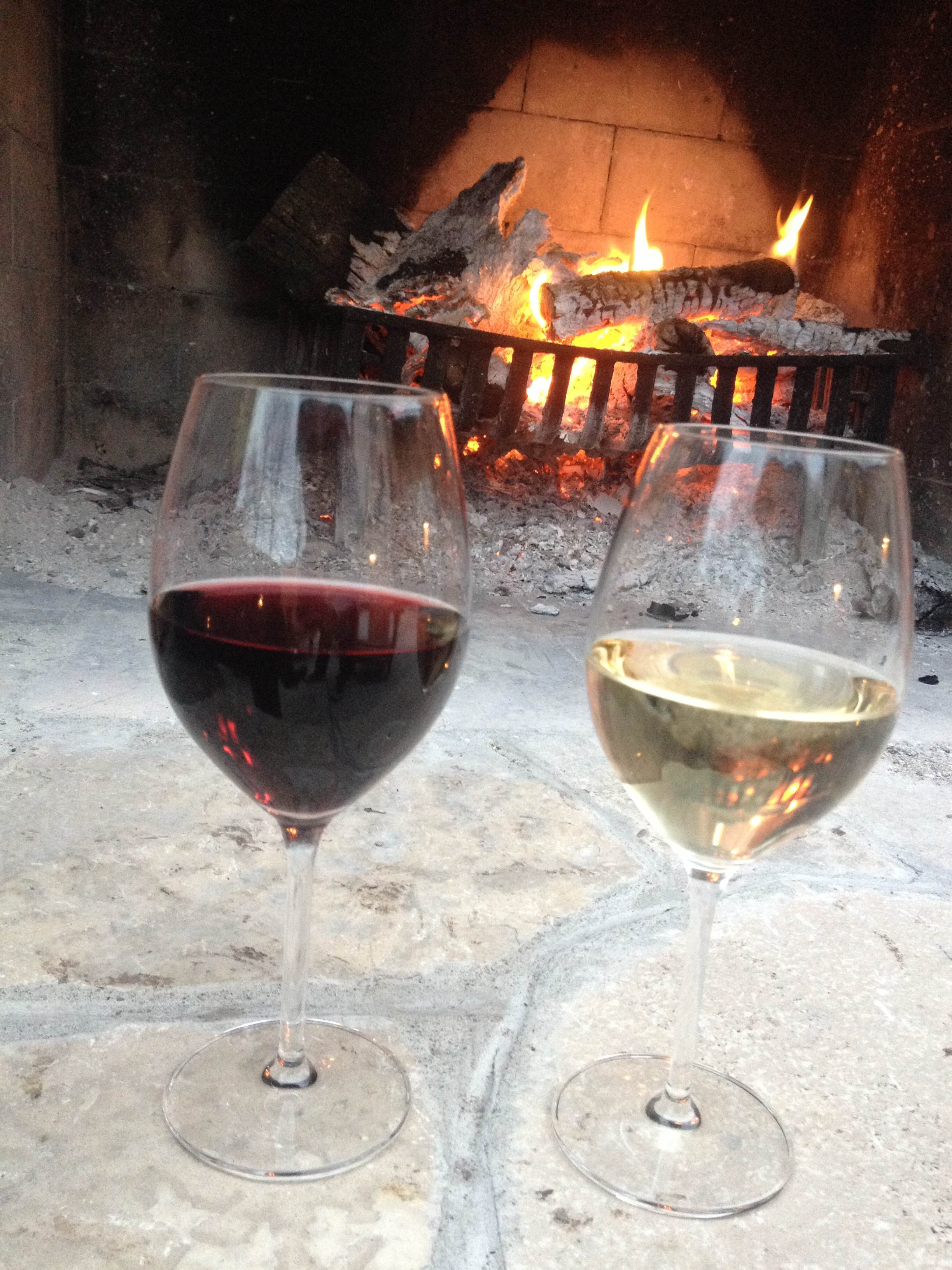 Wine by the fire at Oxley is always a great choice.