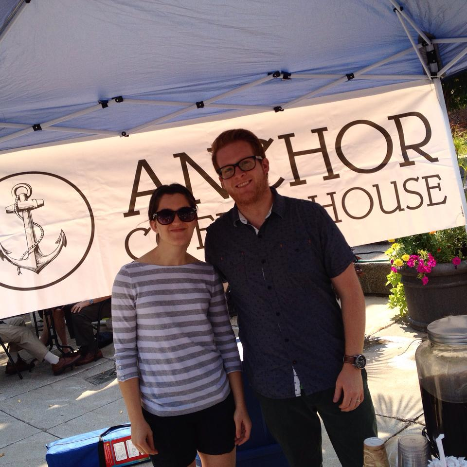 Rachel and Kyle of Anchor Coffee House