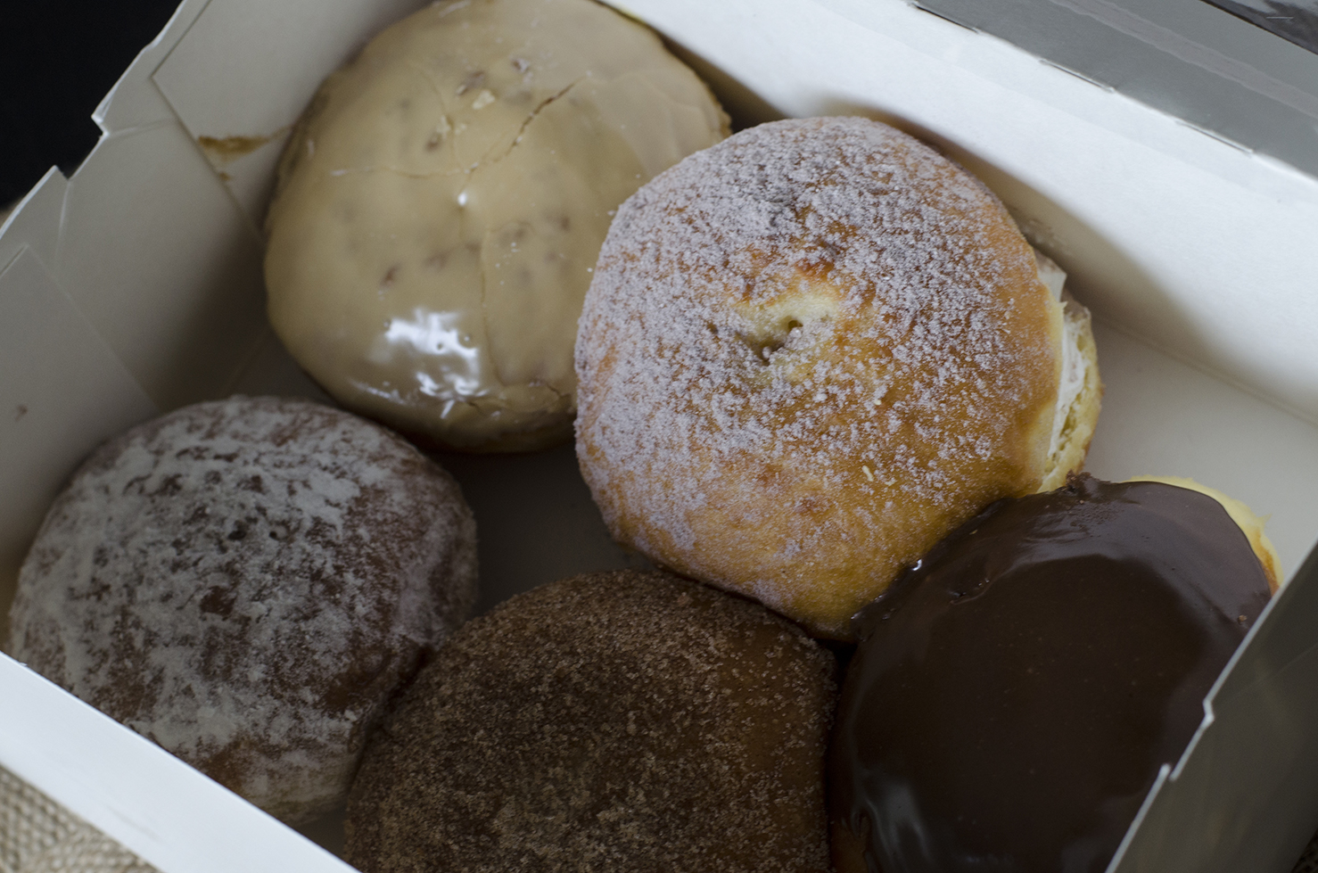 A variety of paczki from Lakeside Deli & Bakery.