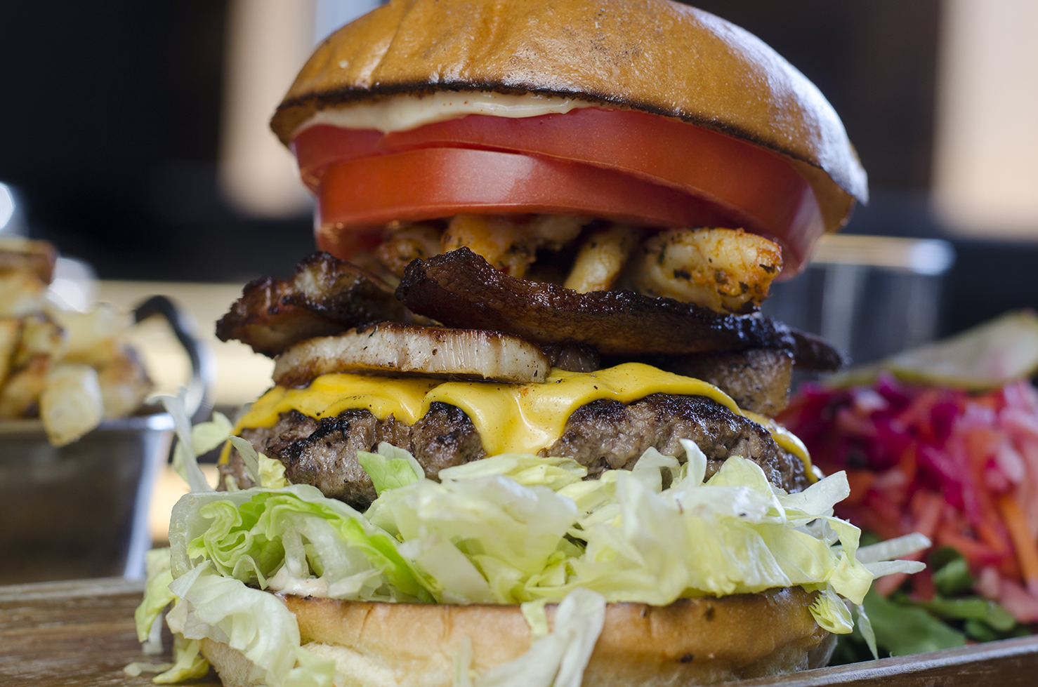 When your appetite calls for a little bit of everything, the Eureka burger fits the bill.