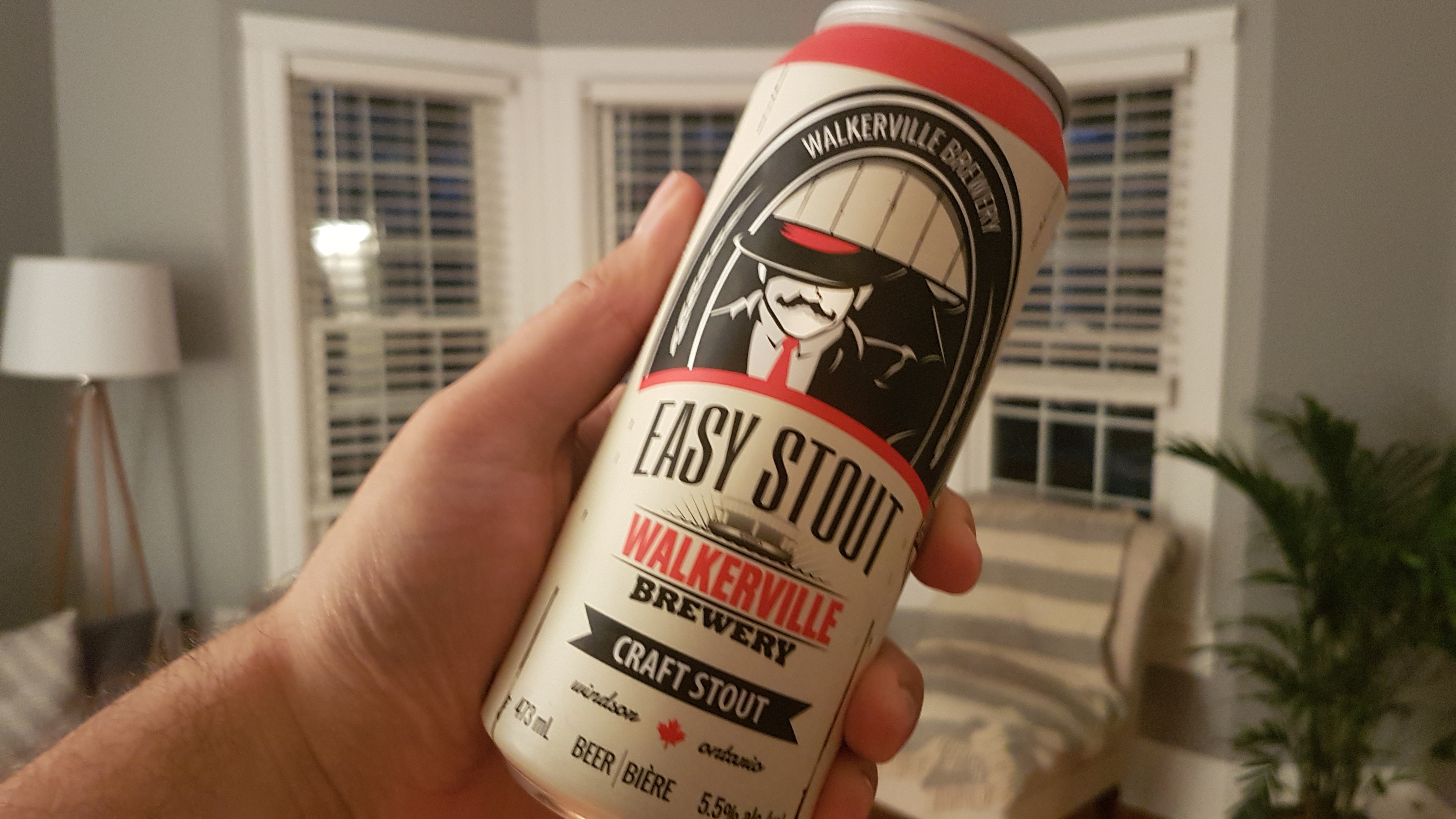 About to enjoy an Easy Stout from Walkerville Brewery