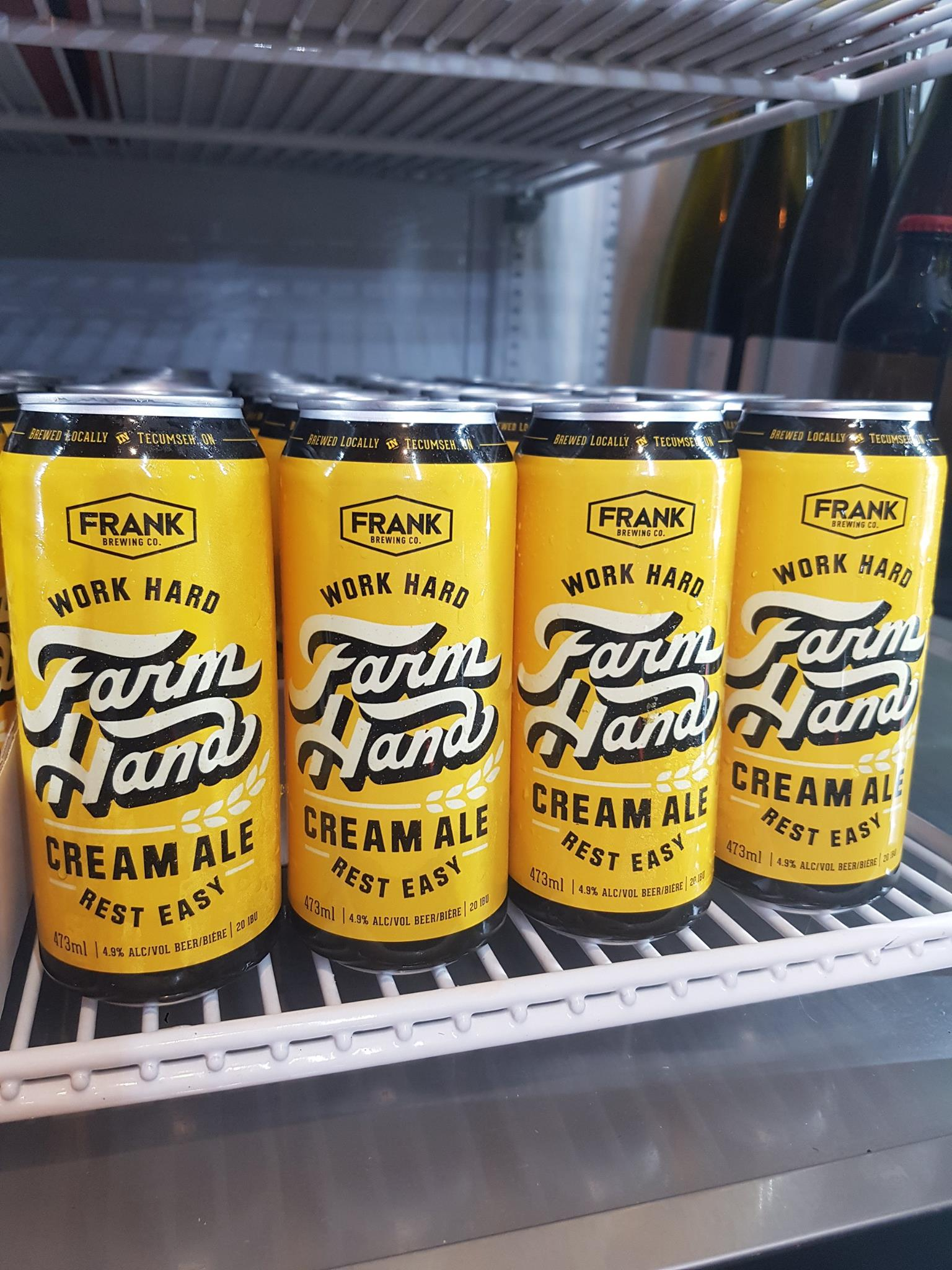 Grab some limited release cans of Frank Brewing Co.'s Farm Hand Cream Ale.