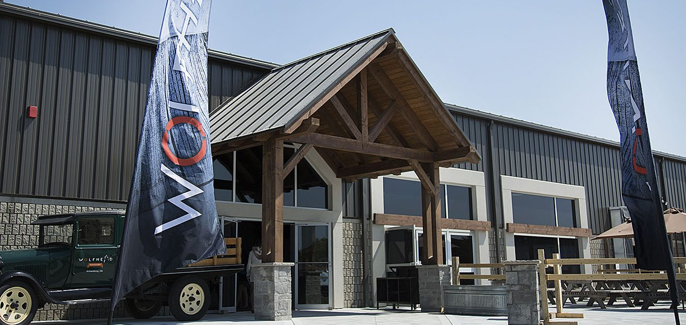 The outside of Wolfhead Distillery as seen prior to the start of a media day at the facility in McGregor May 25. The facility is located on the same property as Timberwolf Lumber Products. Photo by Justin Prince, The MediaPlex
