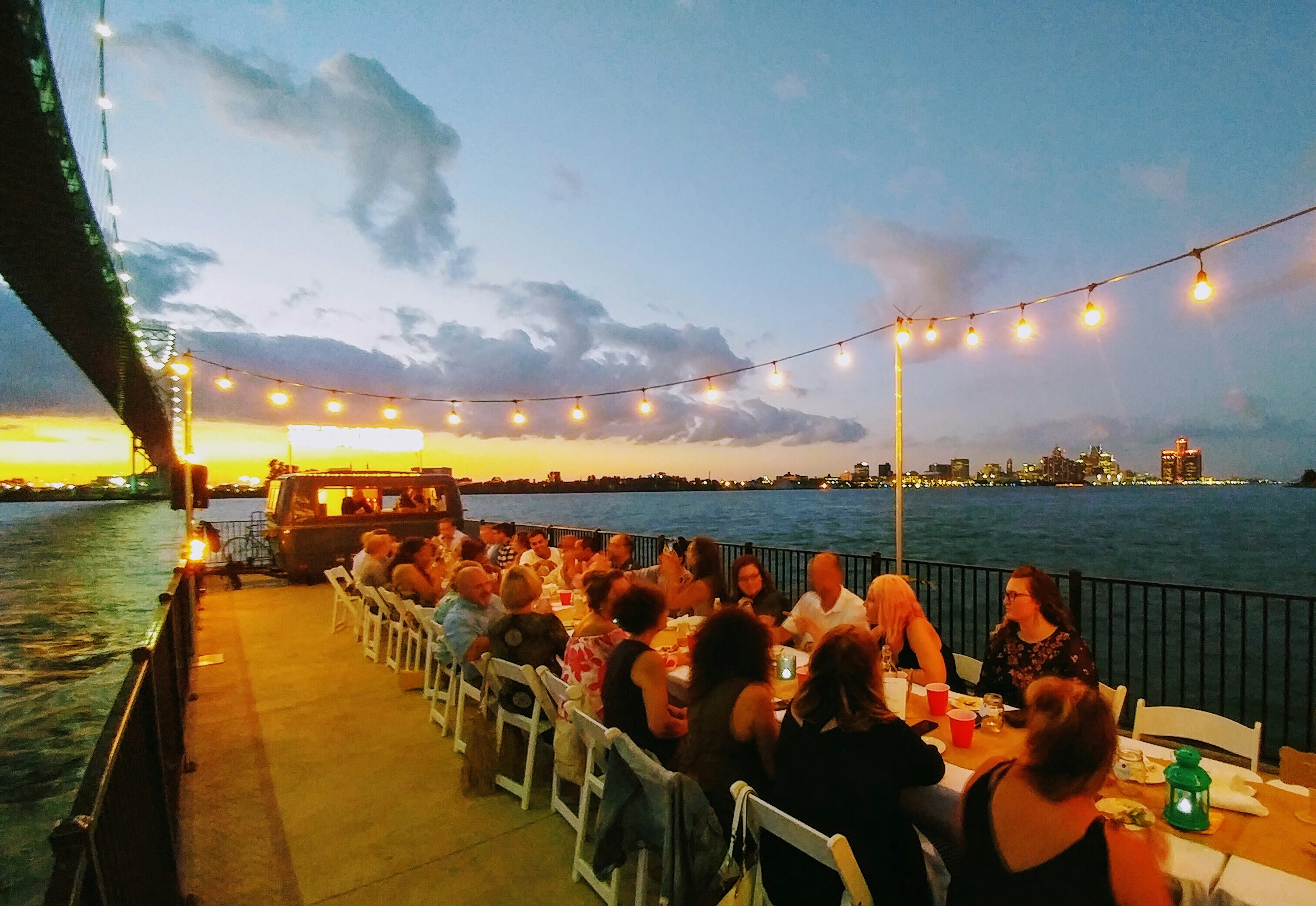 2017 Dinner on a Pier was a huge hit.