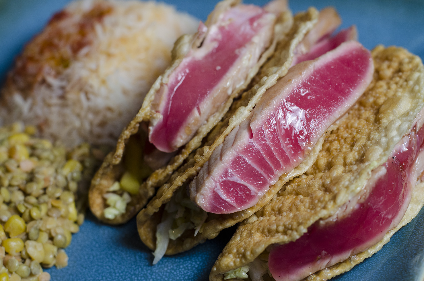 Seared Ahi Tuna Tacos from The City Grill.