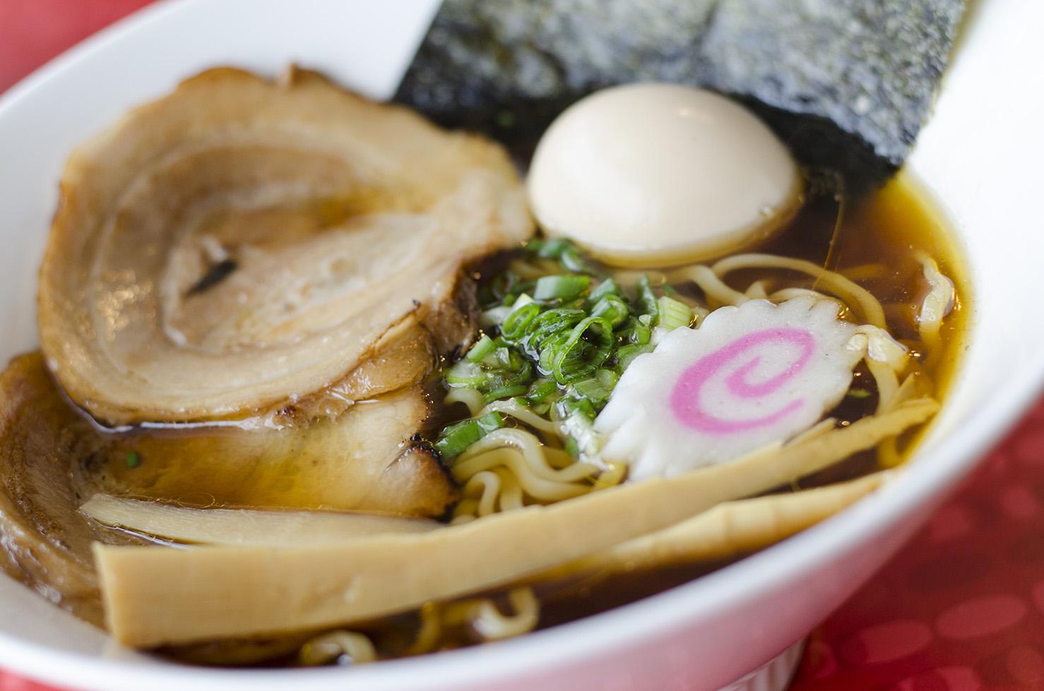 Shoyu ramen from Eros Asian Eatery.