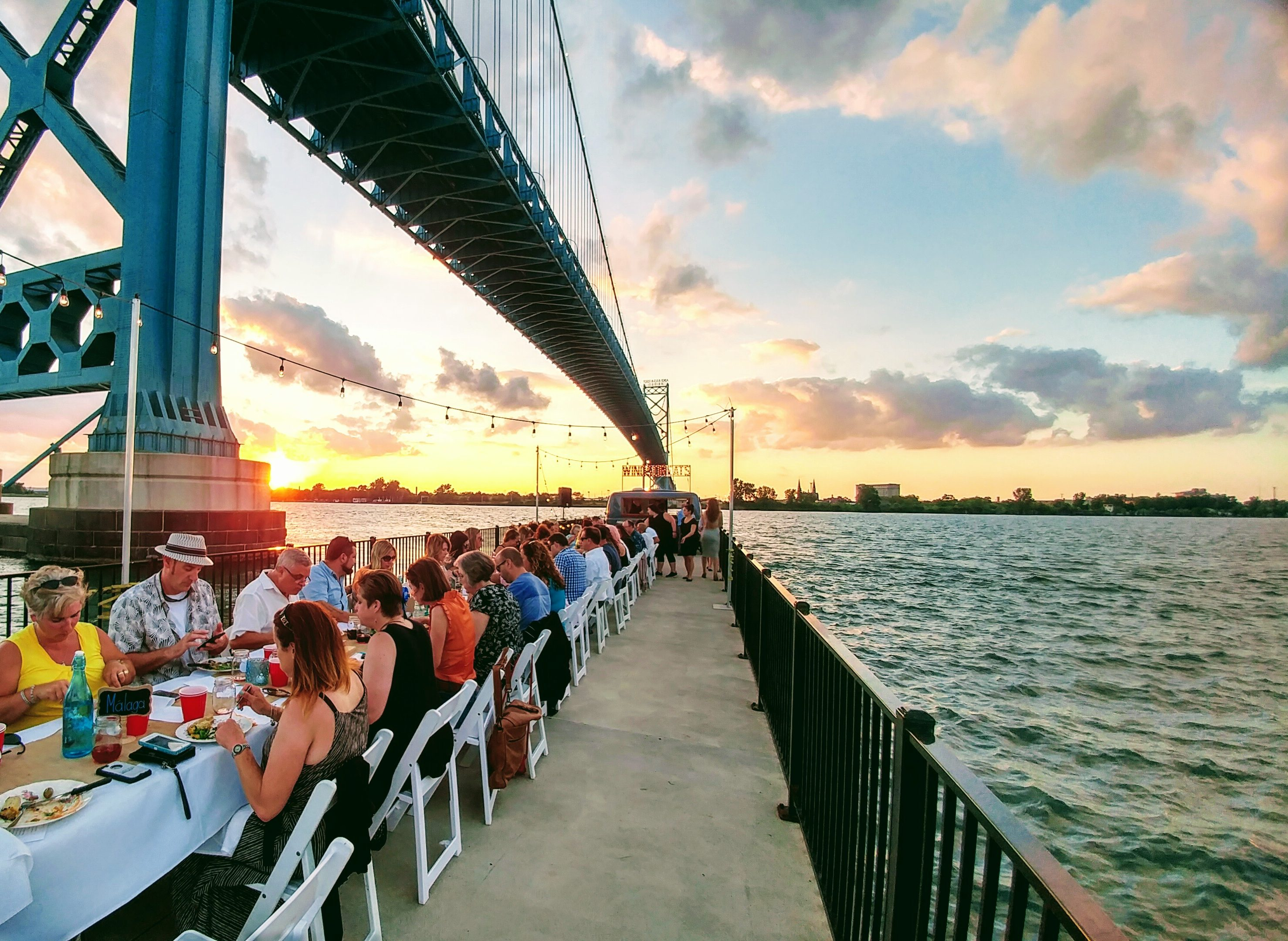 Dinner on a Pier has become an anticipated annual event.