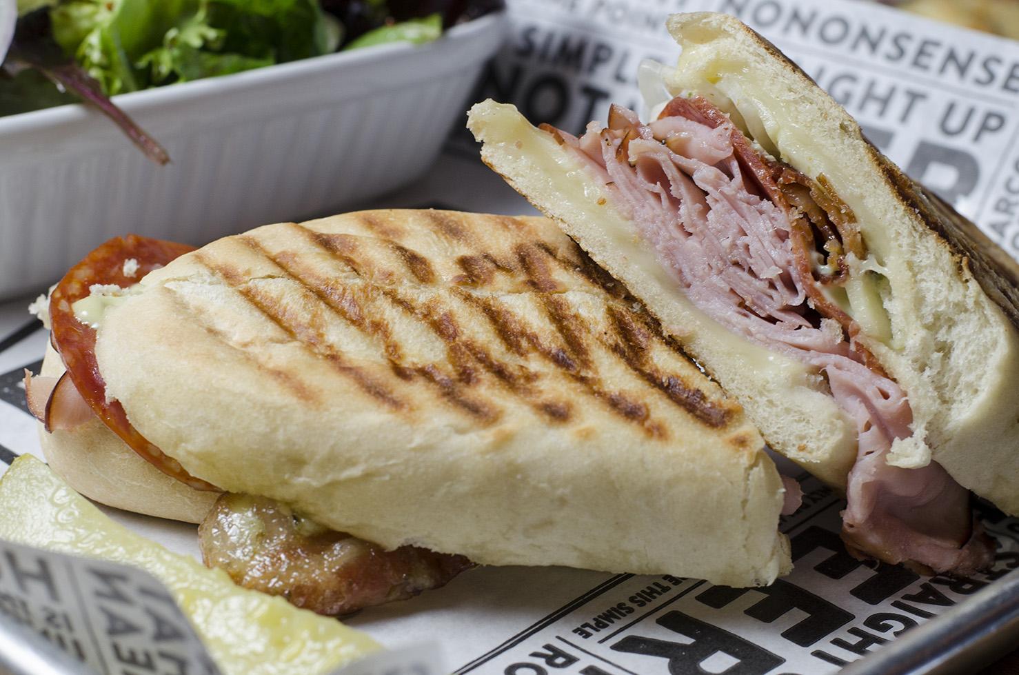 The meaty Italian Man Sandwich at Frank Brewing Co.