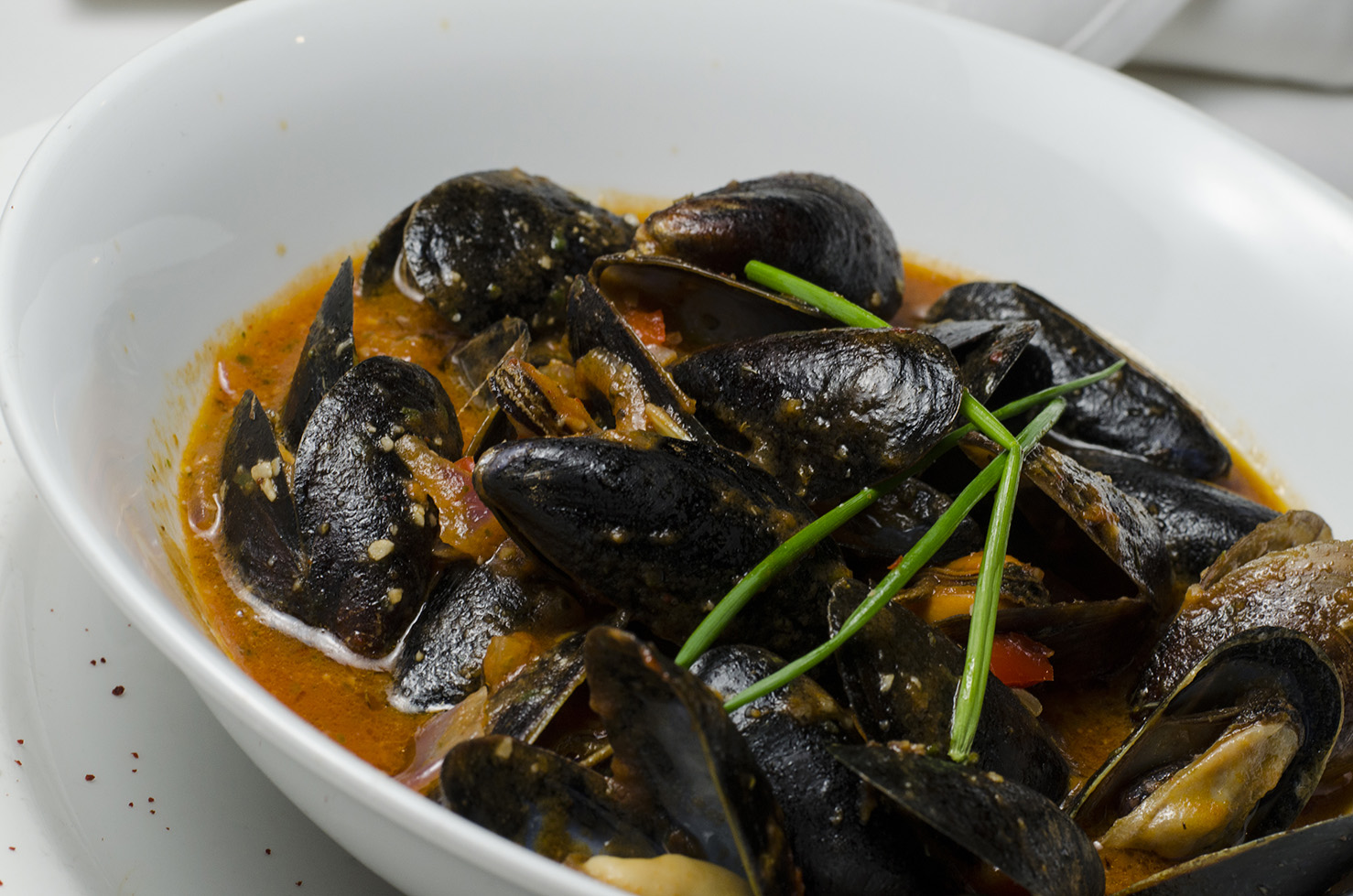 Cozze. One of Mezzo Restaurant & Lounge's specialties.