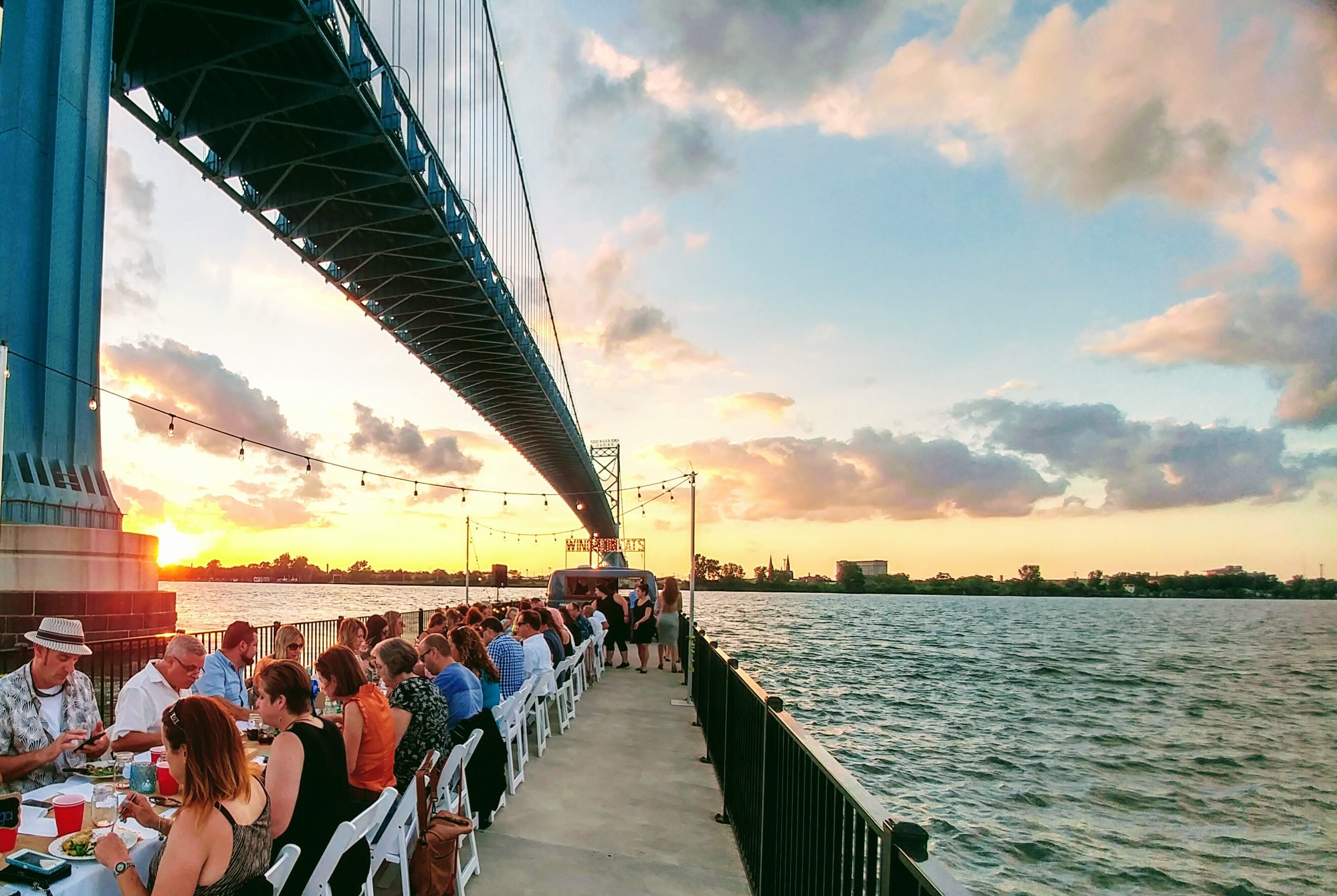 Photo from the 2017 Dinner on a Pier.