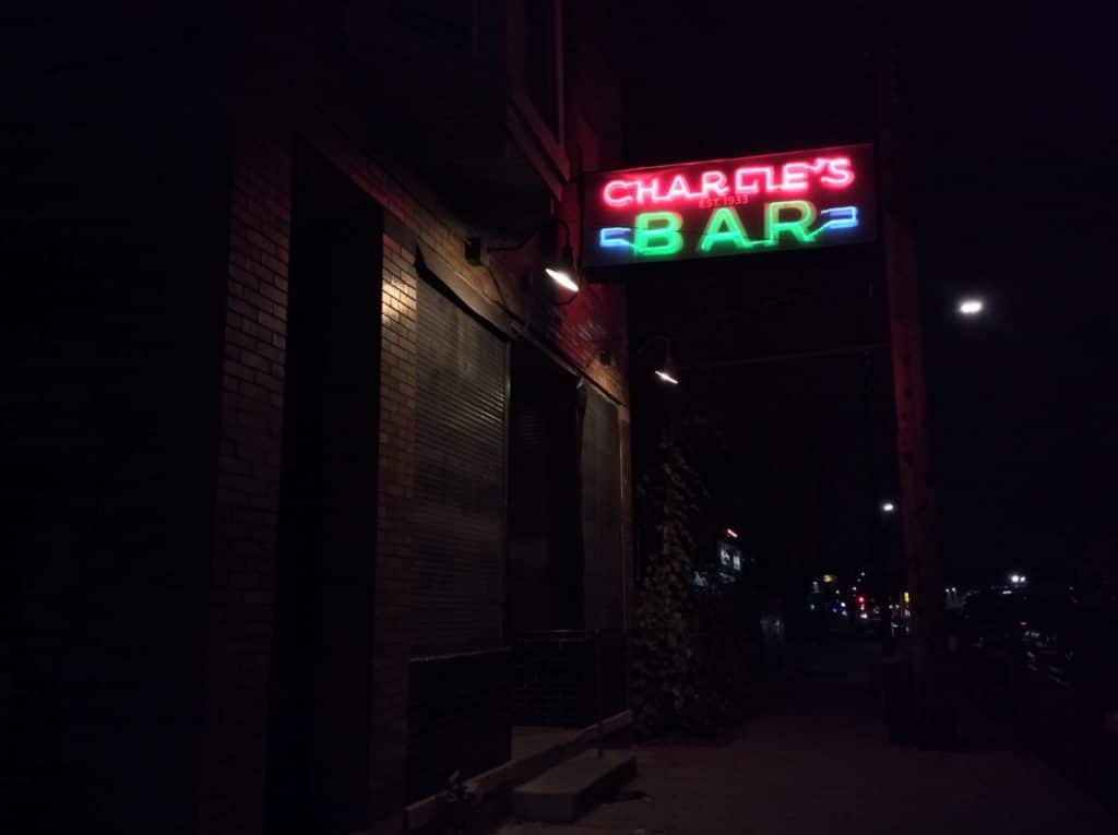 Charlie's Bar in Detroit, Michigan.