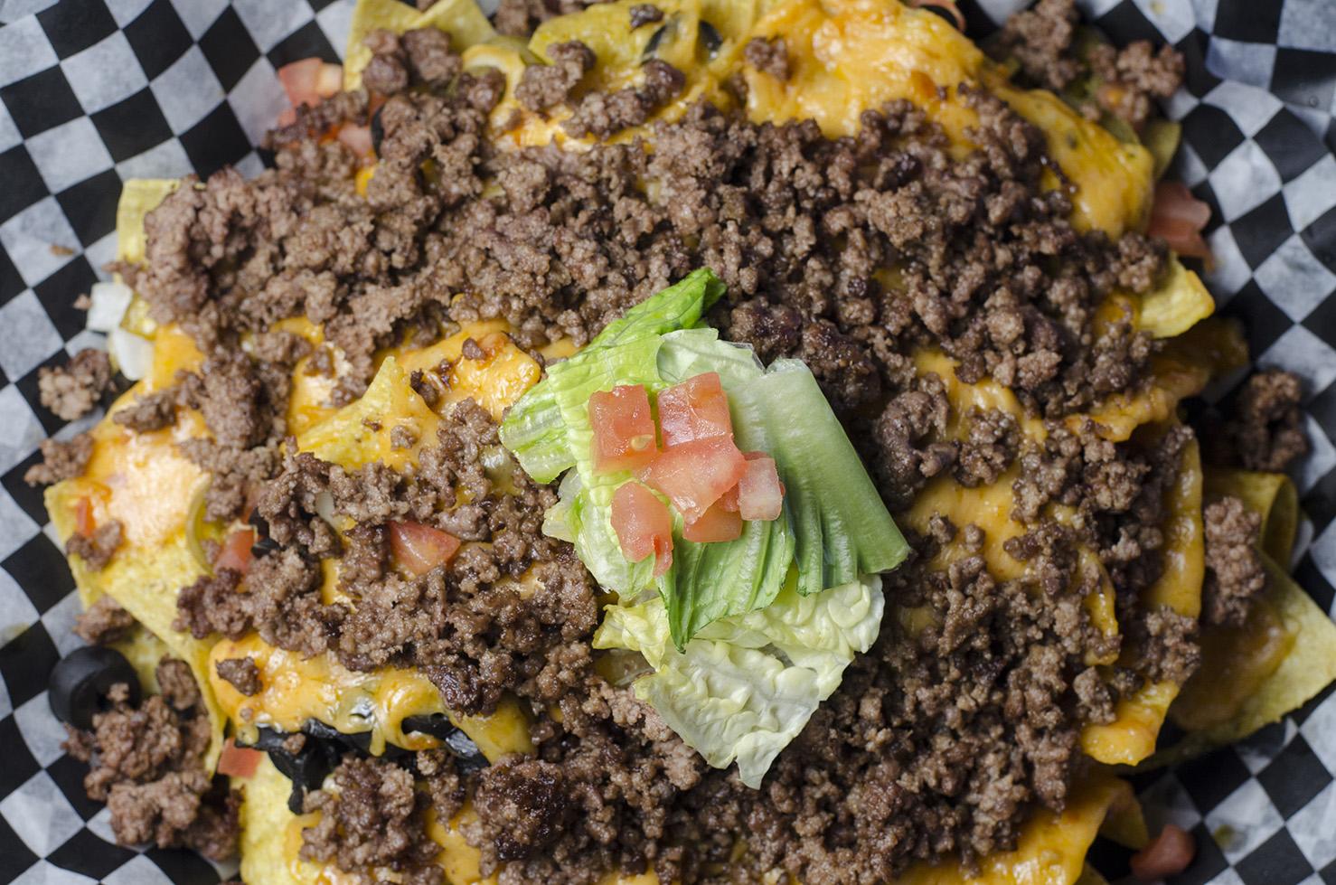 Beef nachos at Joe Schmoe's in LaSalle, Ontario.