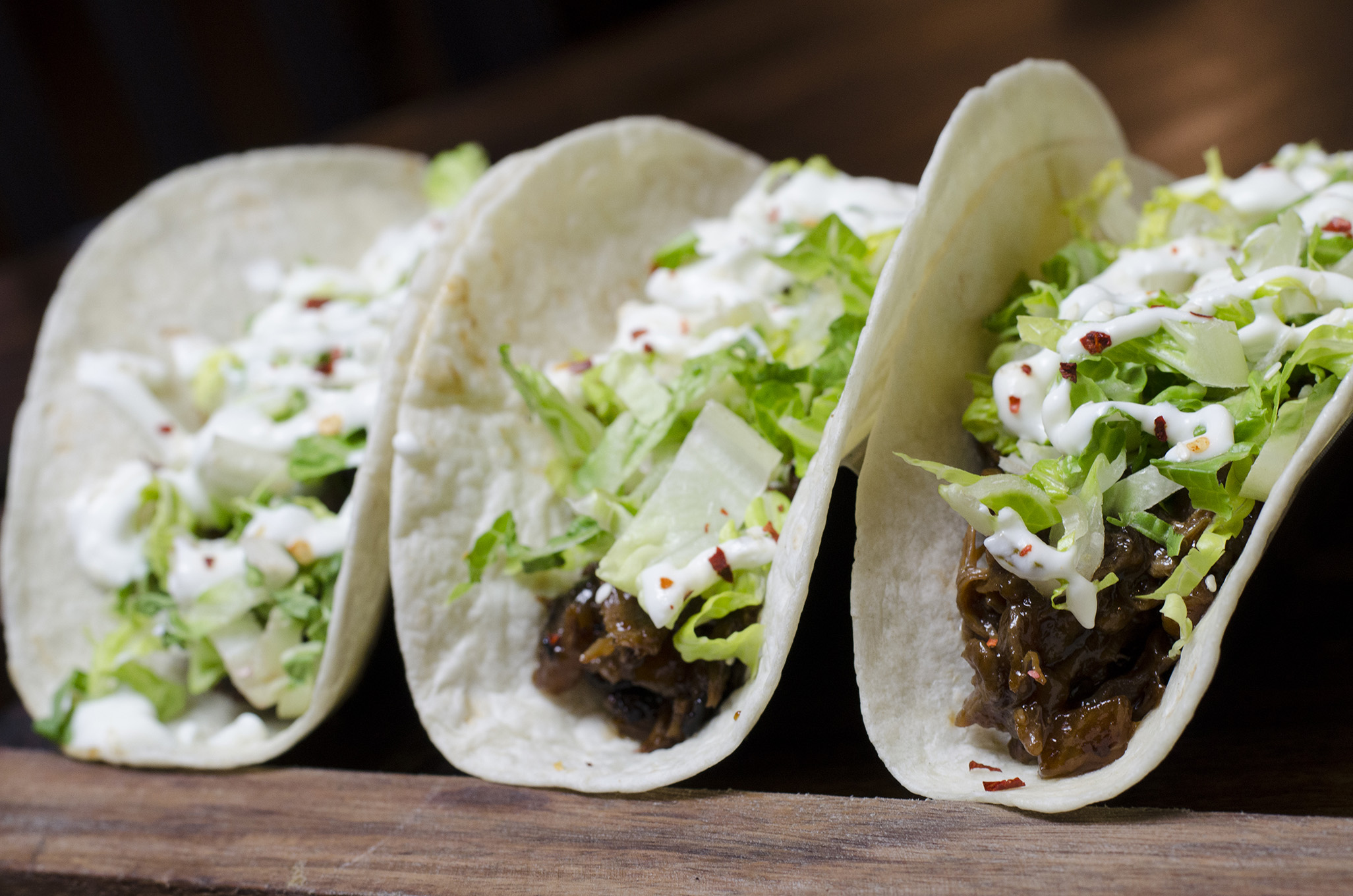 Duck tacos at Walkerville Eatery.