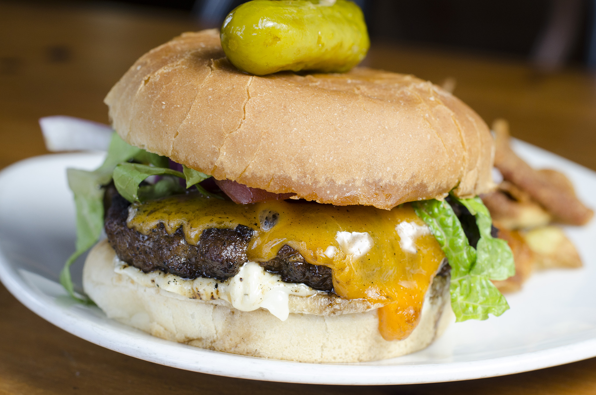 A classic cheeseburger at Rino's Kitchen in Windsor, Ontario.