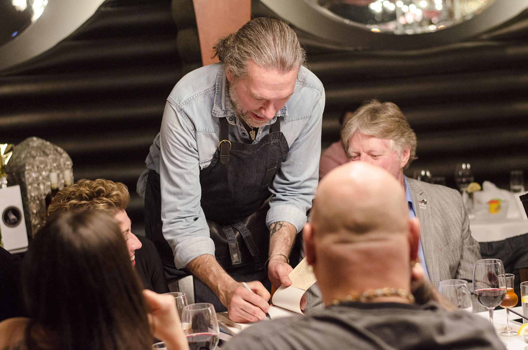 Chef Michael Smith mingled throughout the evening and signed cookbooks.
