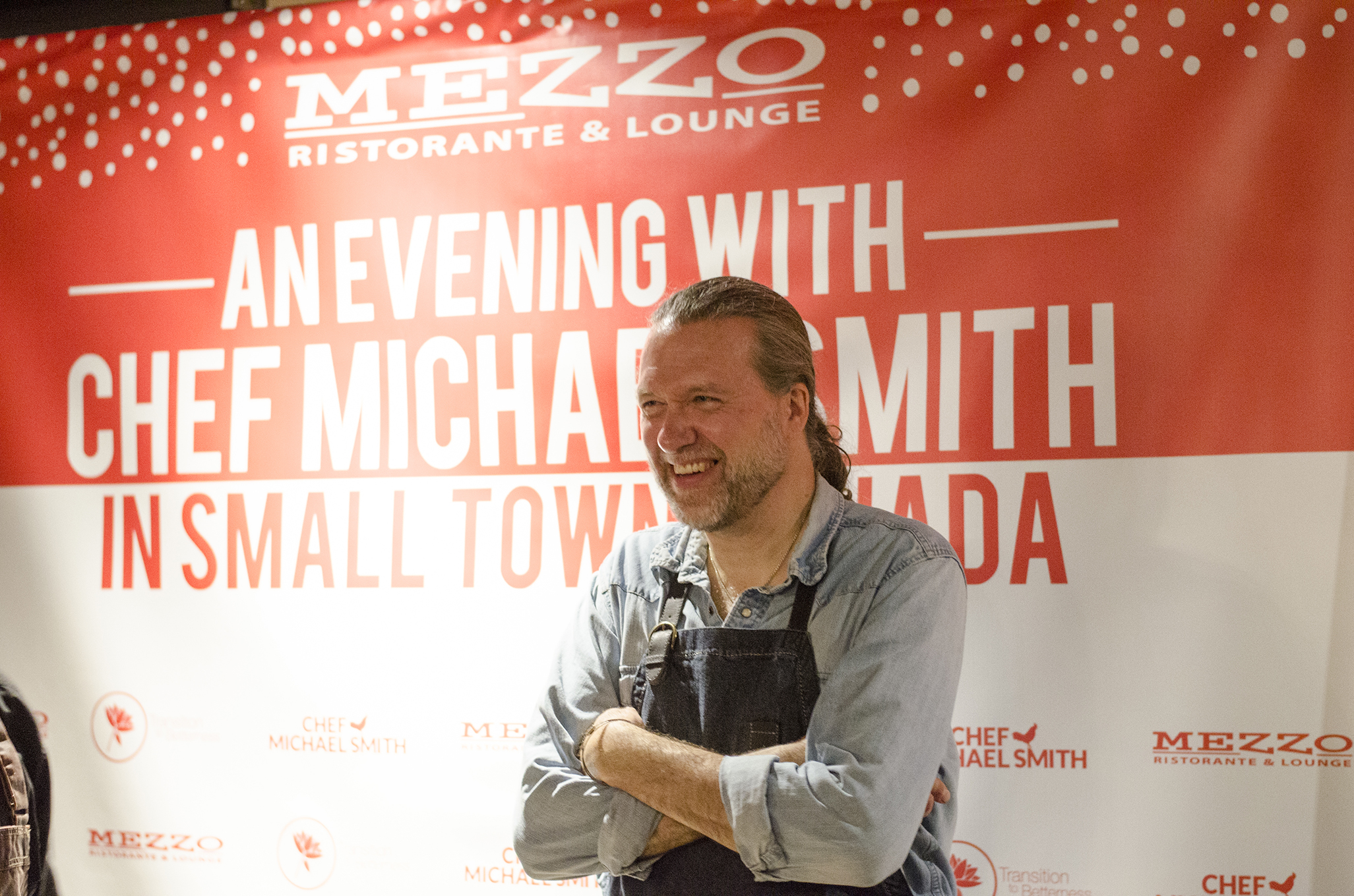 Chef Michael Smith cooked in the kitchen at Mezzo Restaurant in April 2018.