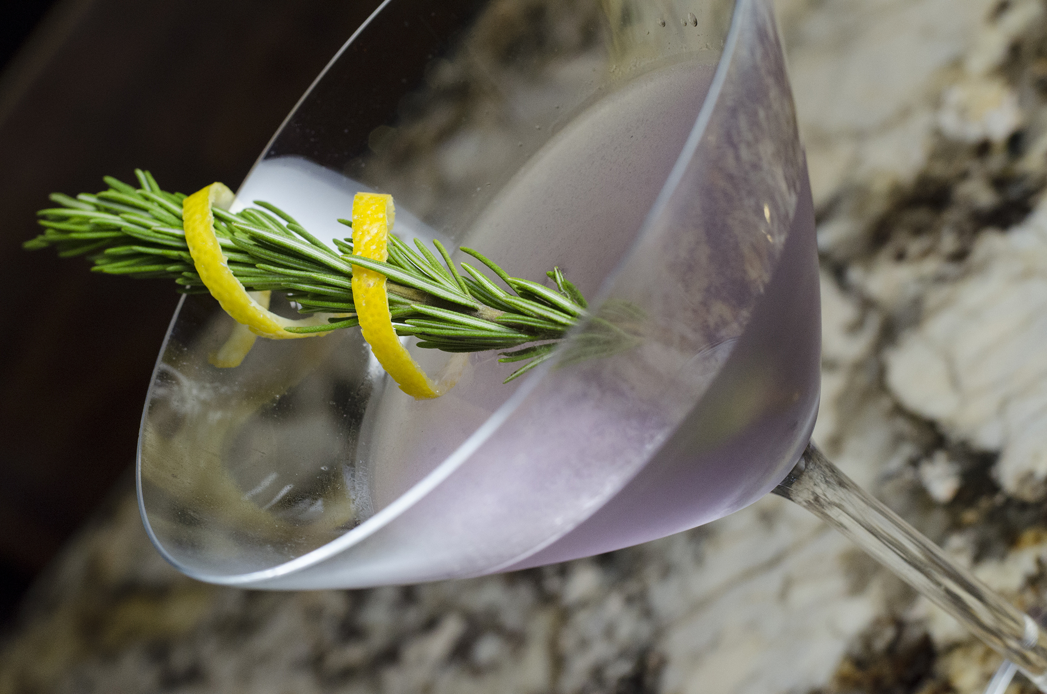 The April Showers cocktail from the 2018 spring cocktail menu at F&B Walkerville in Windsor, Ontario.