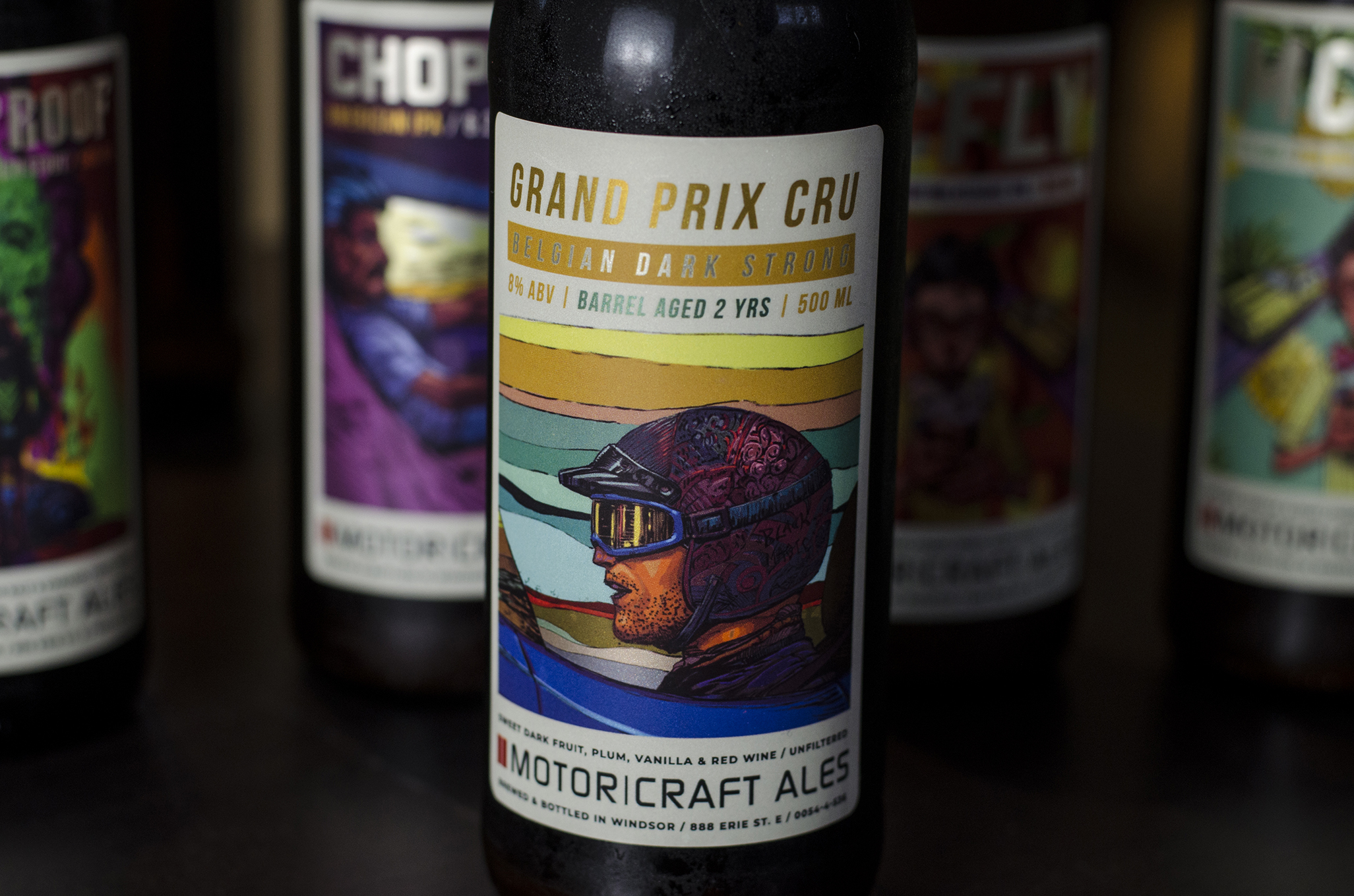 Grand Prix Cru from Motor Craft Ales in Windsor, Ontario.