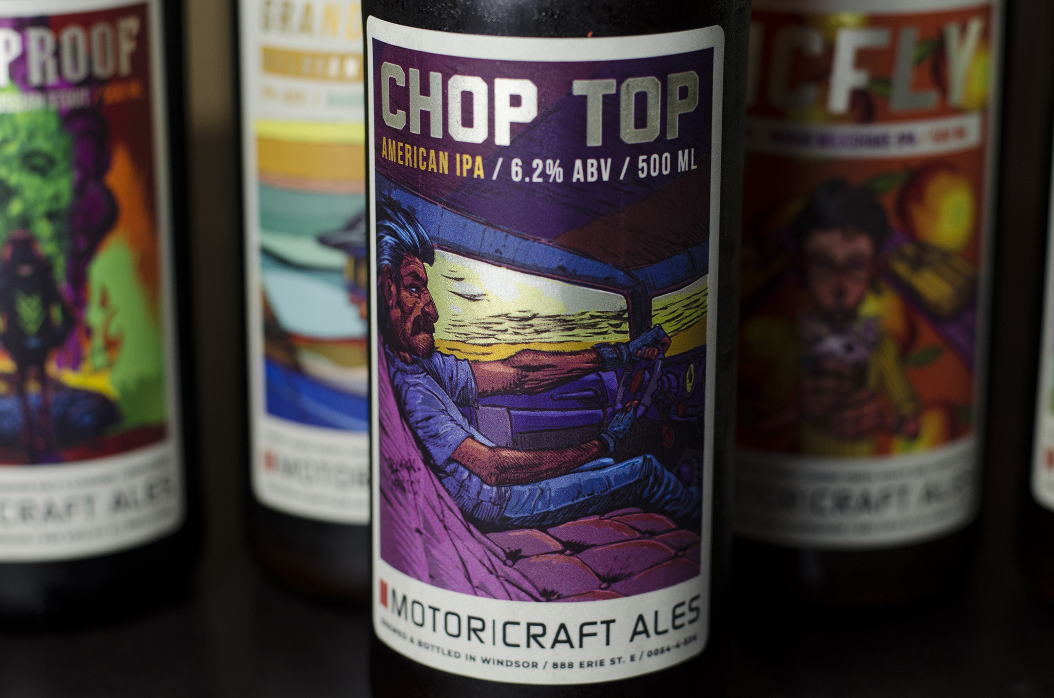 Chop Top from Motor Craft Ales in Windsor, Ontario.