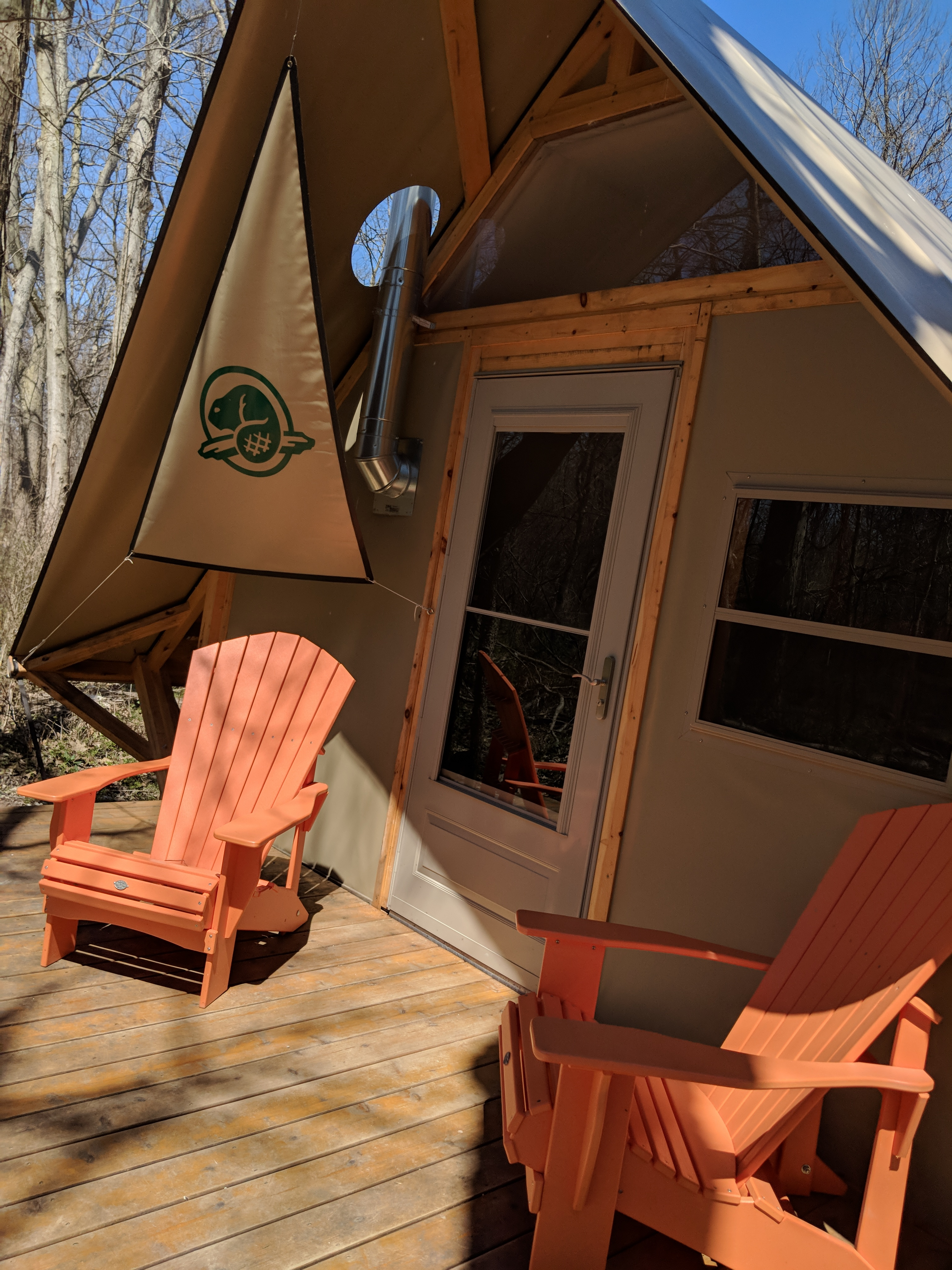 Otentiks are a stylish way to camp inside Point Pelee National Park in Leamington, Ontario.