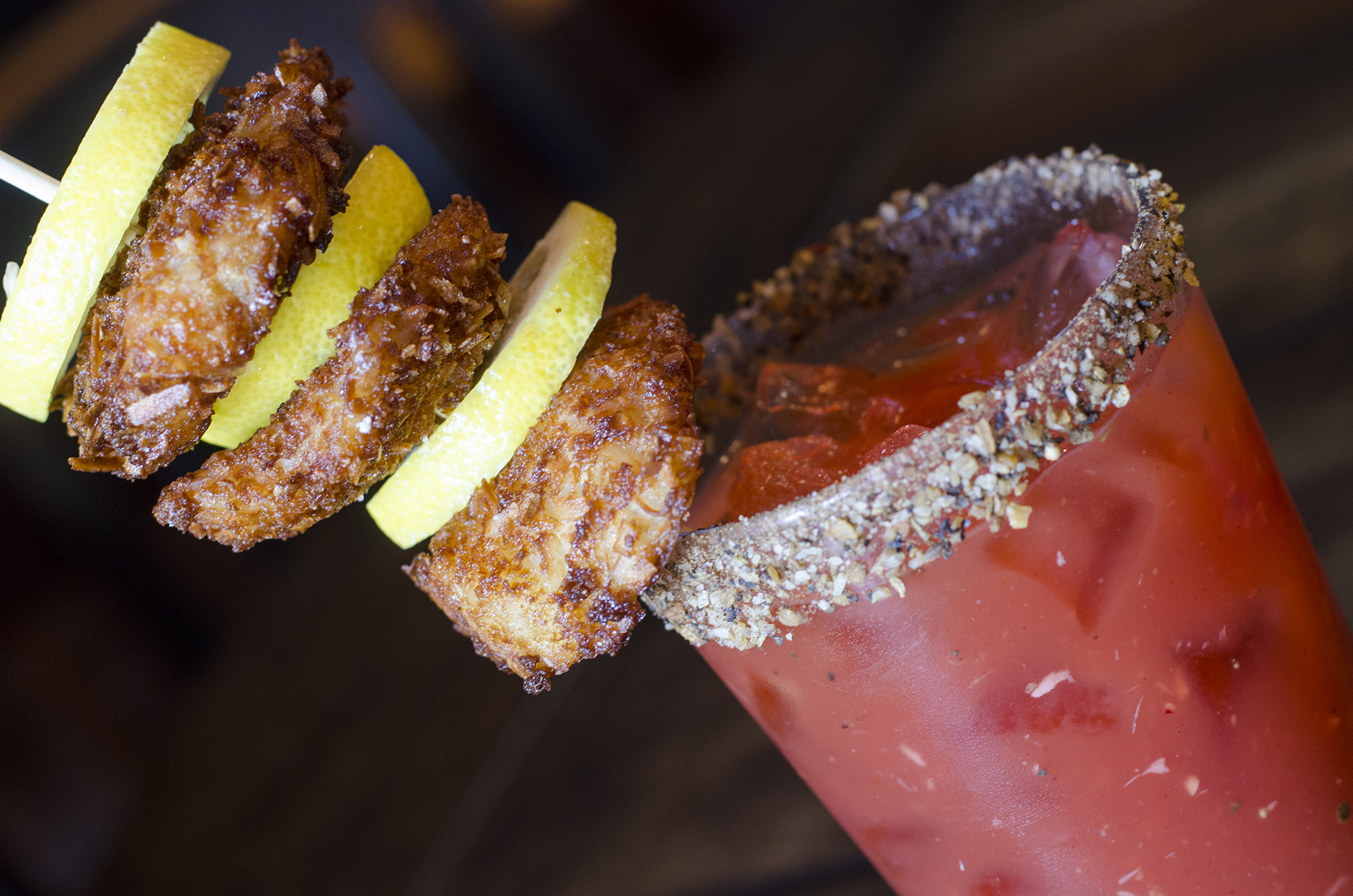 The Caribbean Dream Caesar from Walkerville Eatery in Windsor, Ontario.