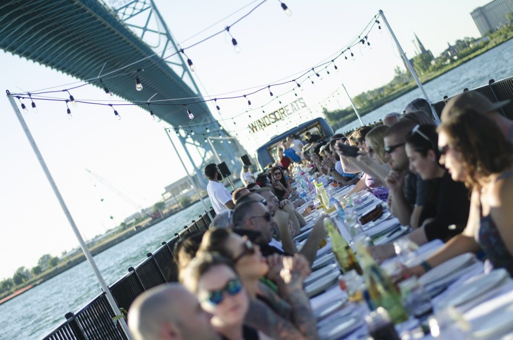 Dining al fresco in the most anticipated annual dining experience in Windsor, Ontario.