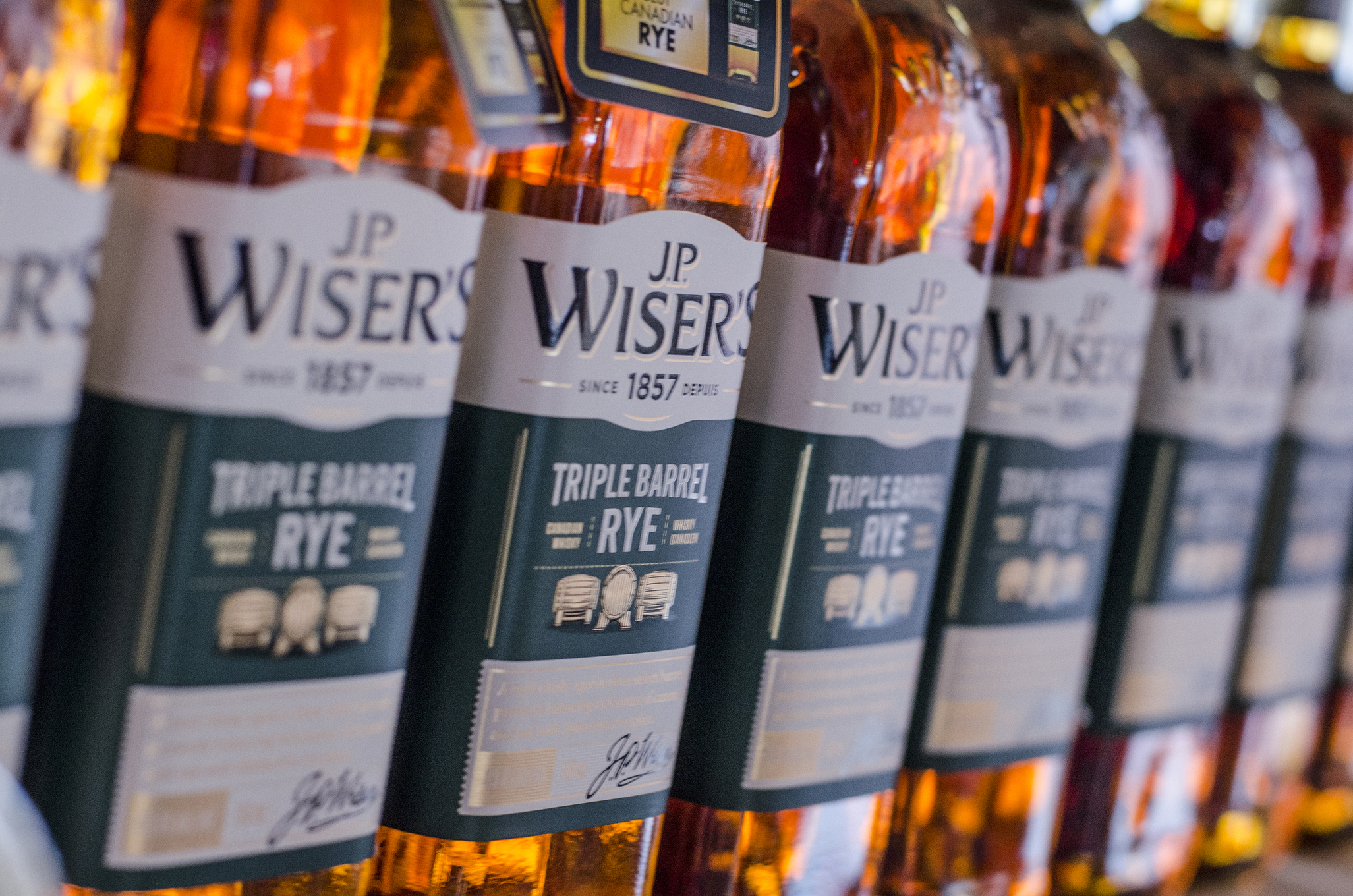Triple Barrel Rye whisky from J.P. Wiser's in Windsor, Ontario.