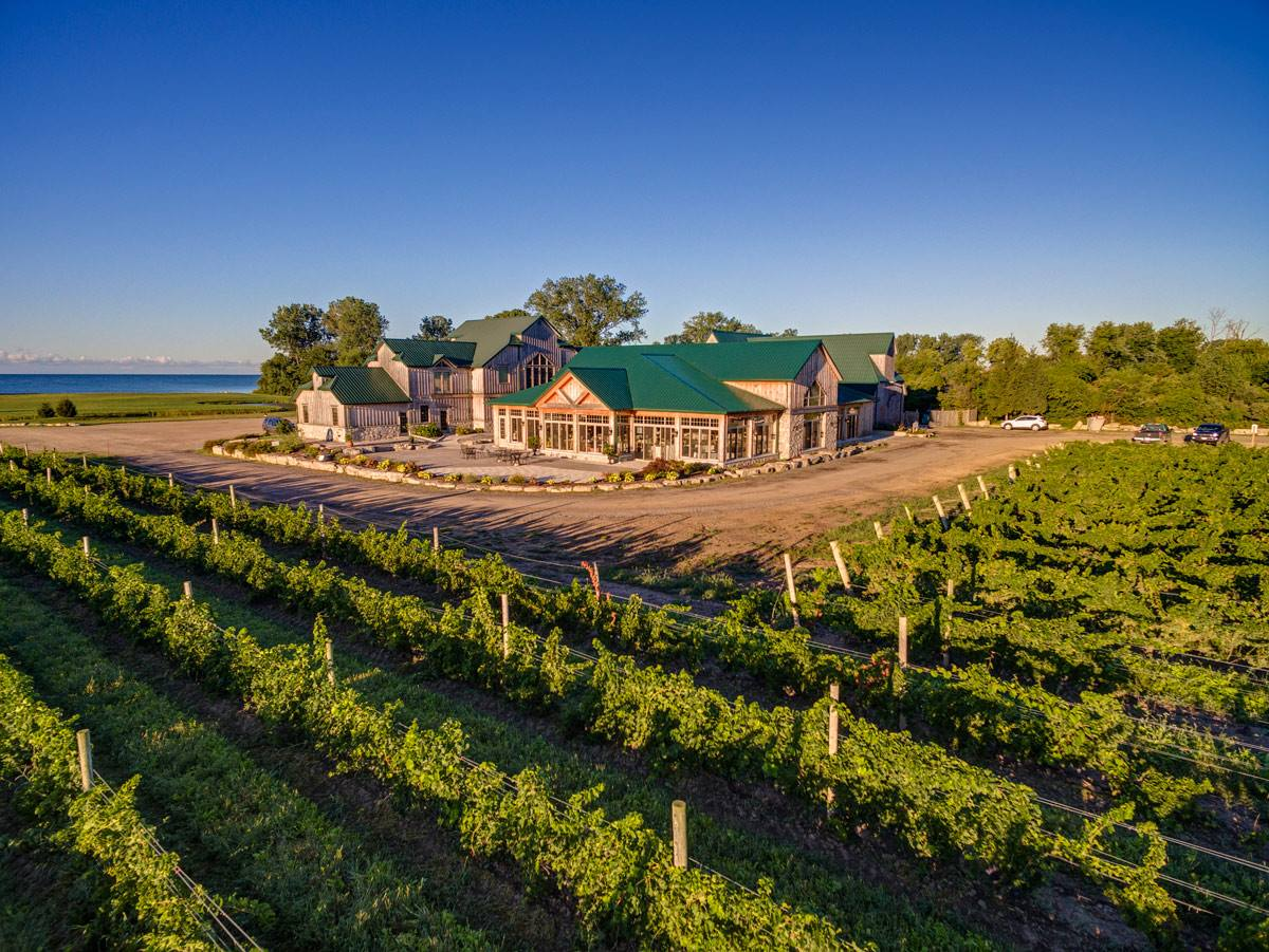 Sprucewood Shores Estate Winery. Photo by the Wine Country Ontario.
