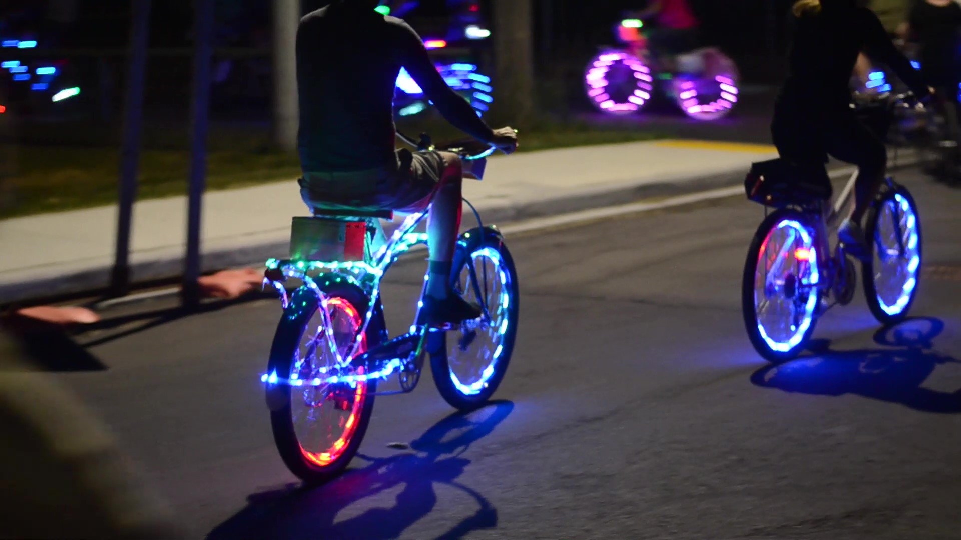 "Friday Night Lights is a colourful, nighttime ""pub crawl"" on bike in Windsor, Ontario."