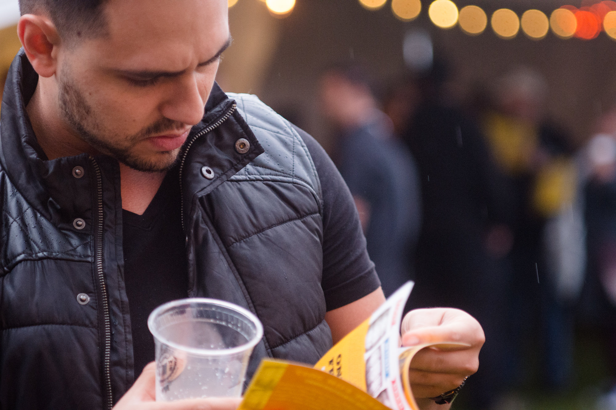 Our beer list is printed within our festival guide, handed out on site.