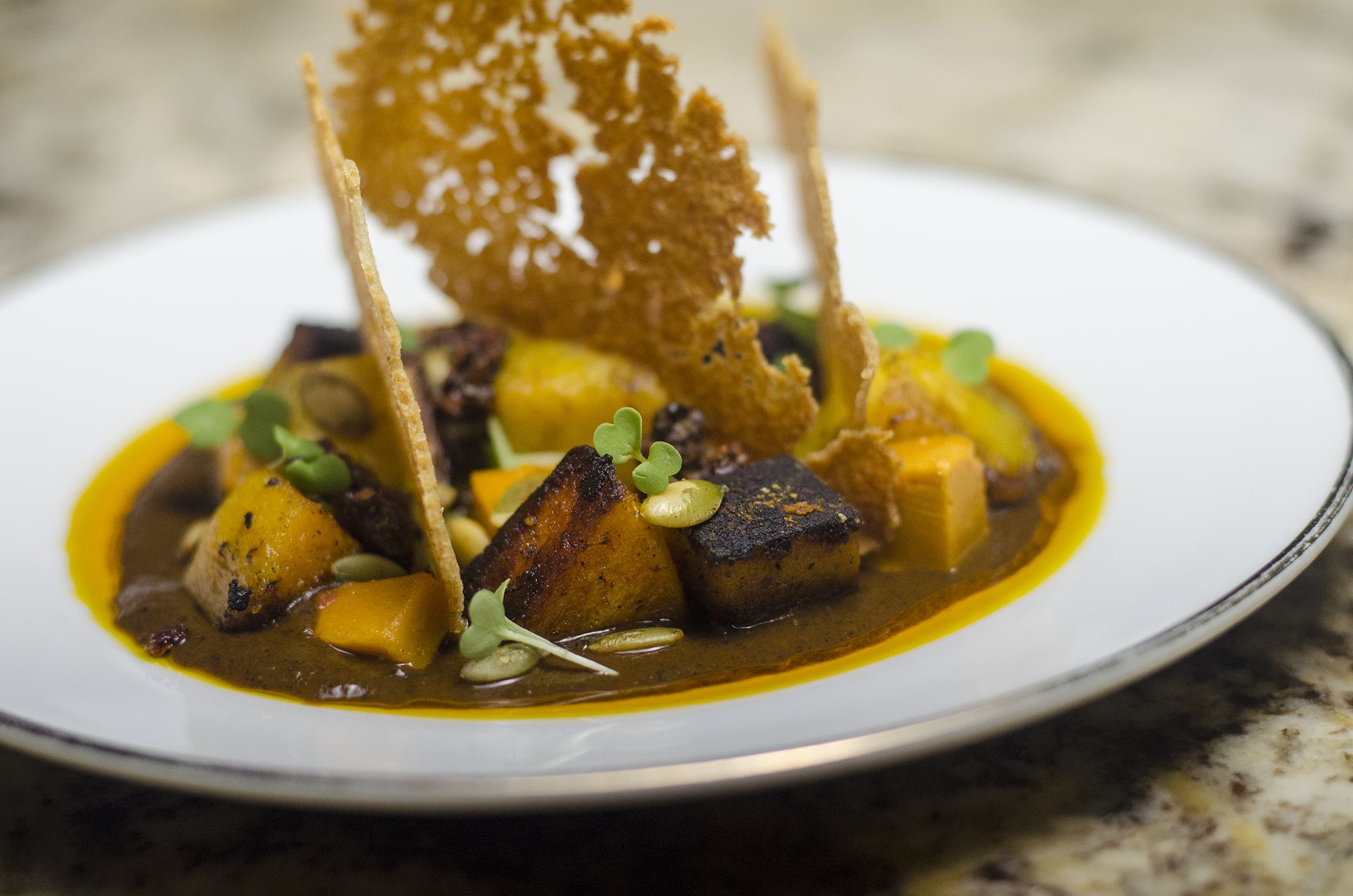 Roasted Winter Squash from F&B's new 2019 Fall menu.