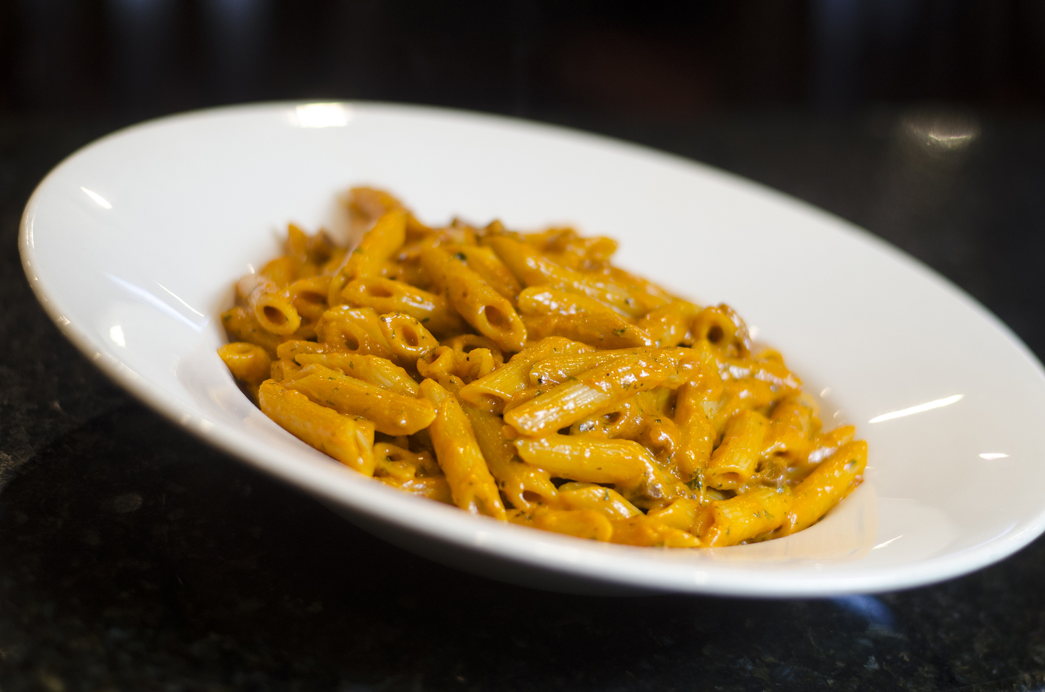 Penne alla Vodka from Enzo's in Windsor, Ontario's Via Italia.