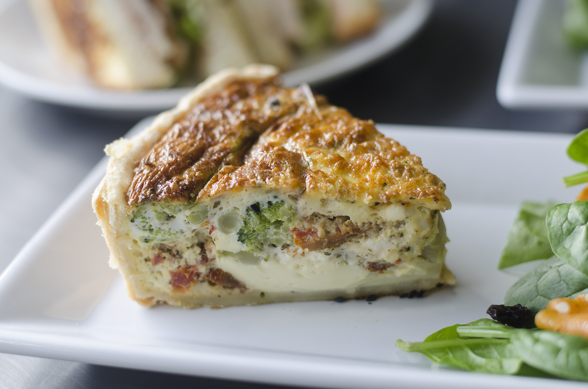 Riverside Pie Cafe offers up a selection of amazing quiche.