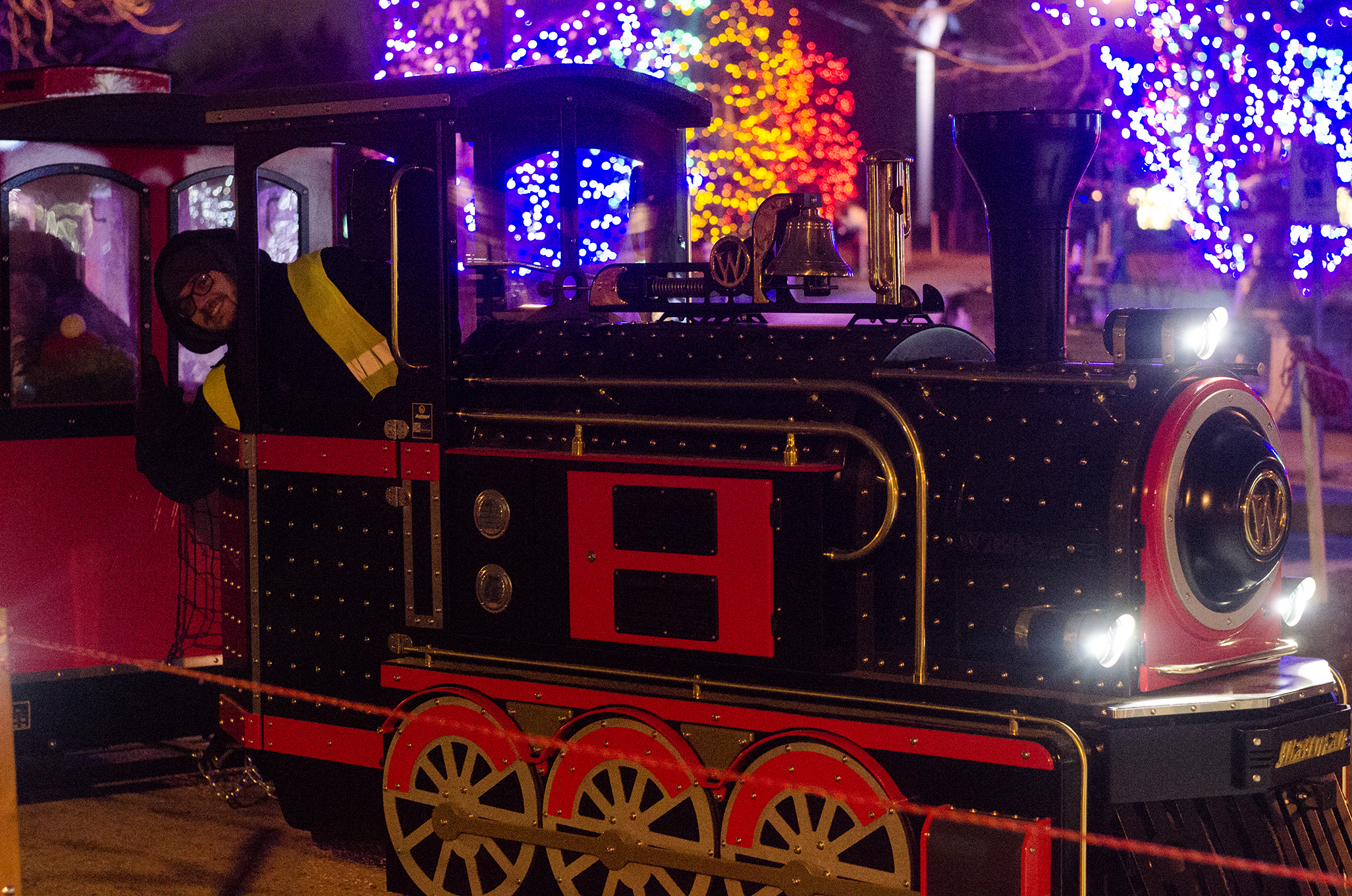 All aboard the holiday train at Bright Lights Windsor!