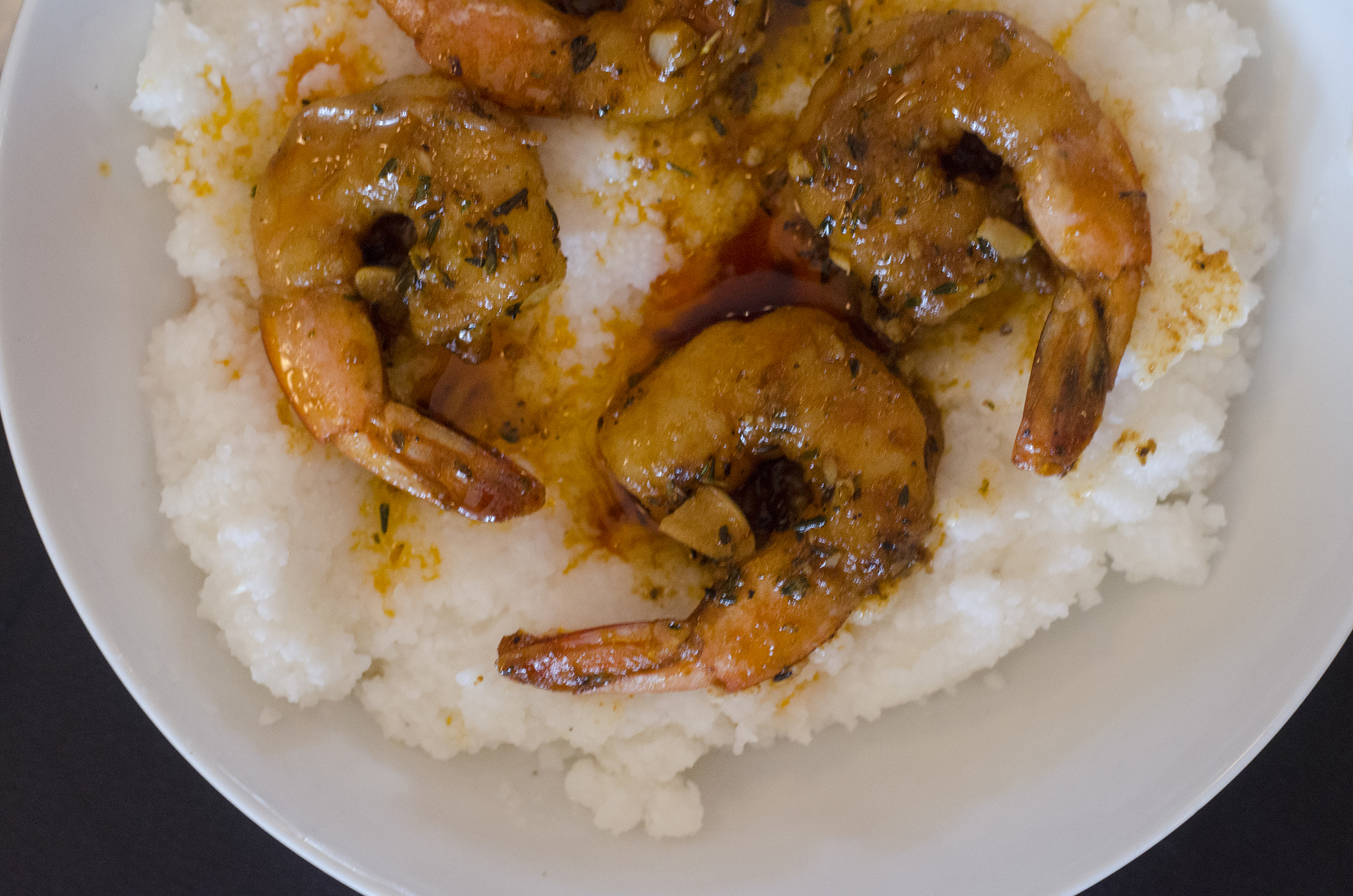 BBQ Shrimp & Grits from Nola's in Windsor, Ontario.